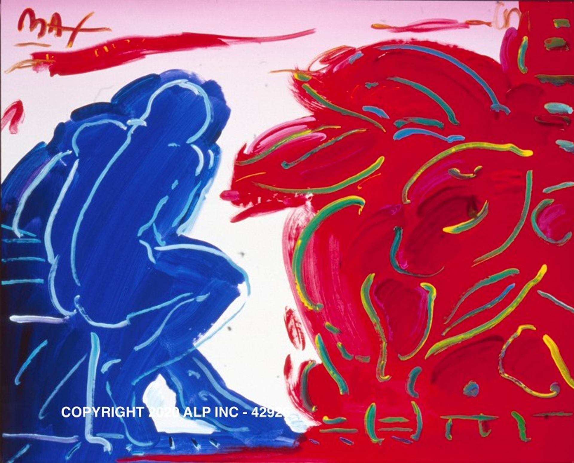 Blue Thinker Ver. II #5 - Vintage Collection by Peter Max
