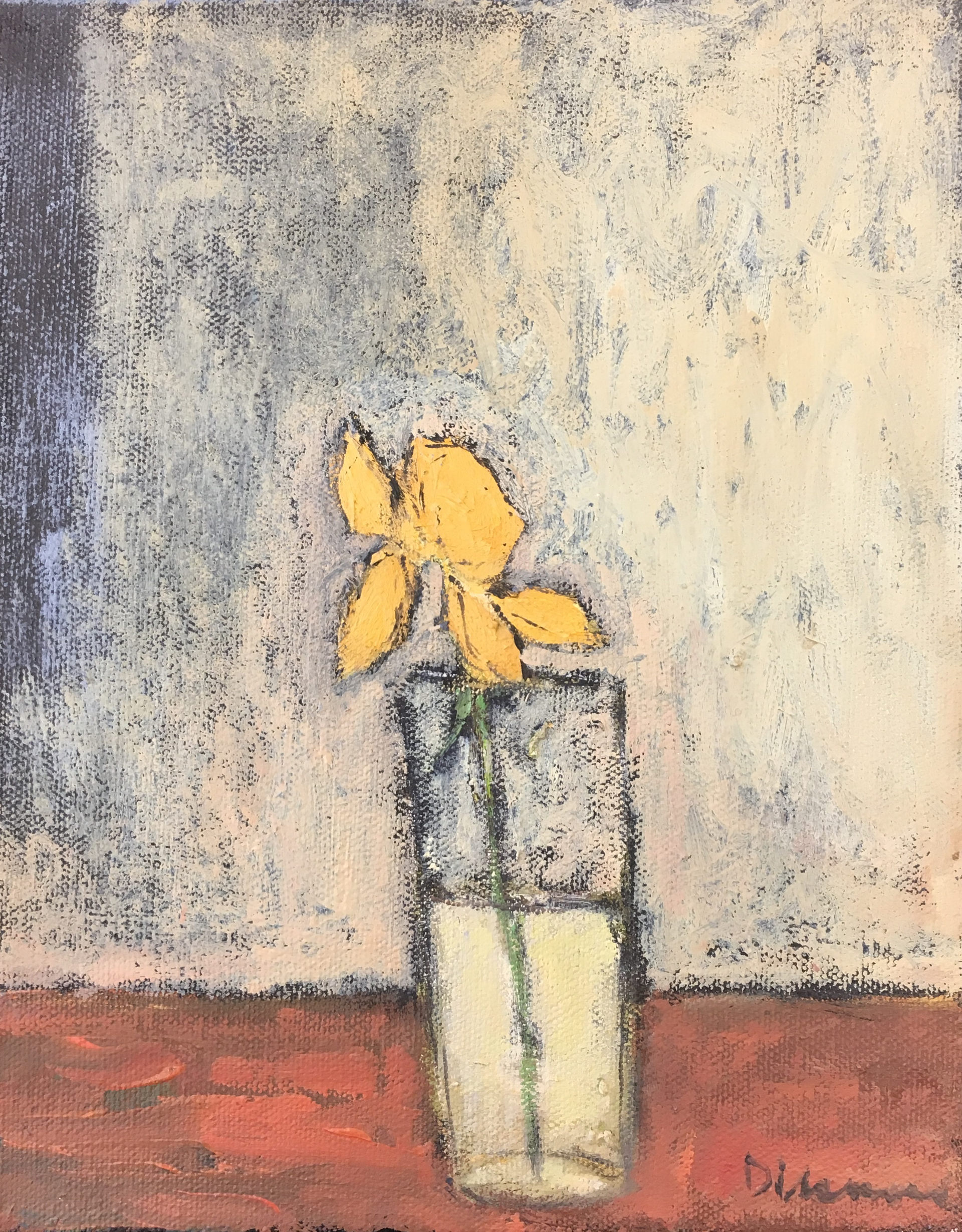 Yellow Rose in Glass by Stephen Dinsmore