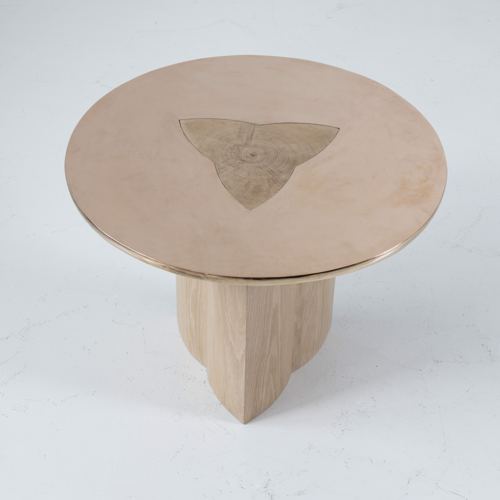 Side table with bronze by Tinatin Kilaberidze