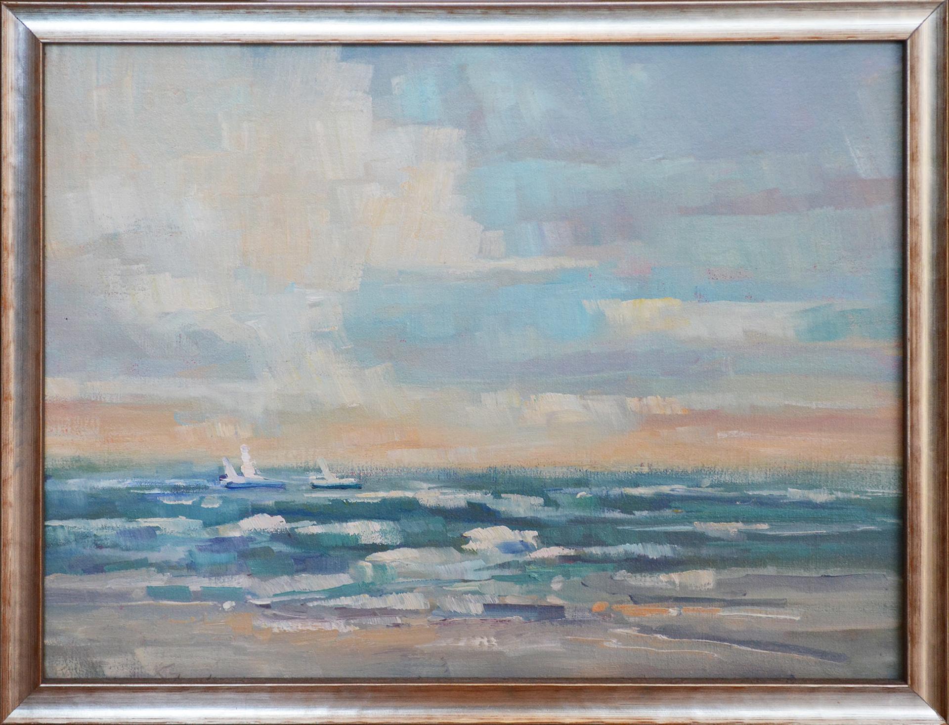 Beach Days Sunrise by Karen Hewitt Hagan