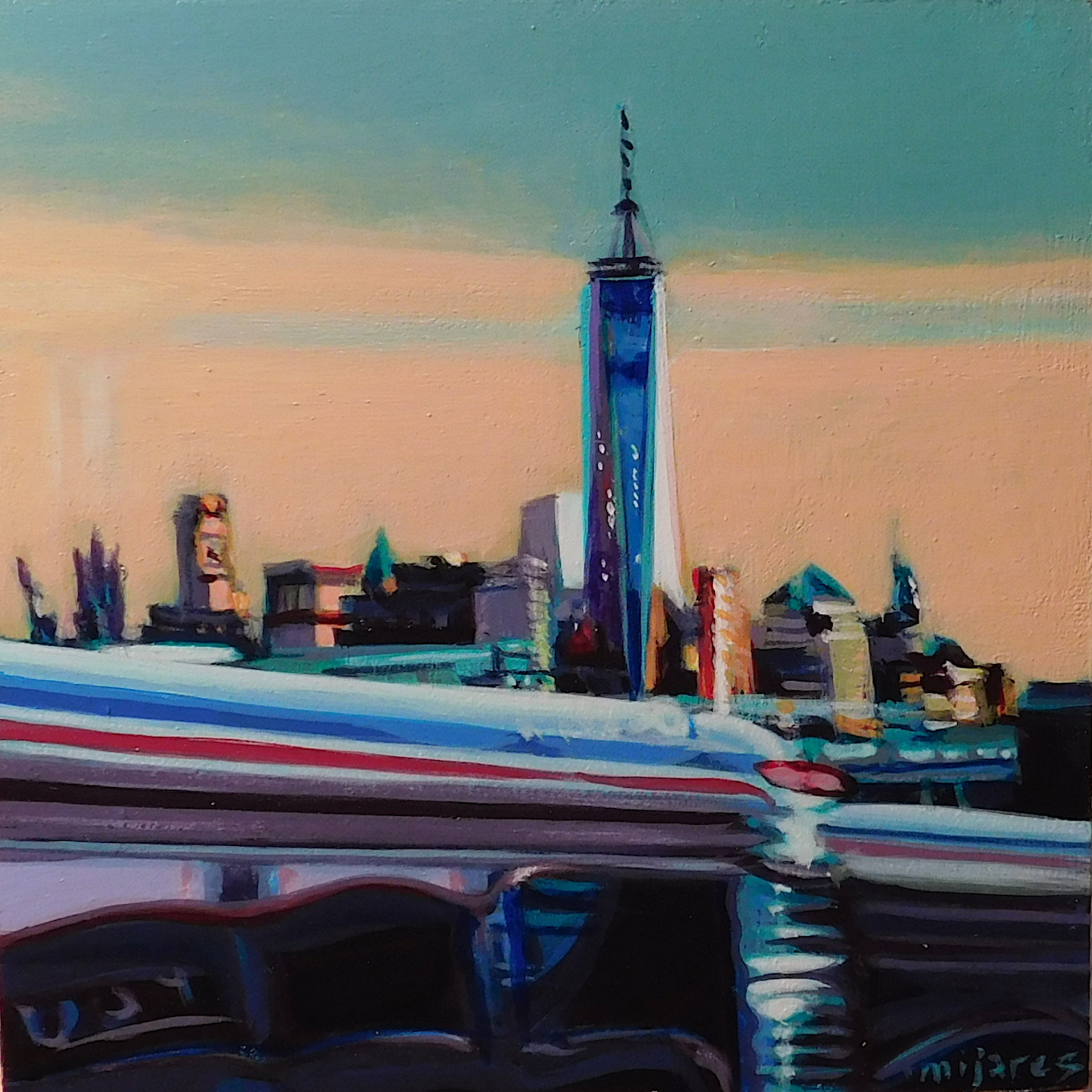 Freedom Tower (Green) by Maria Mijares