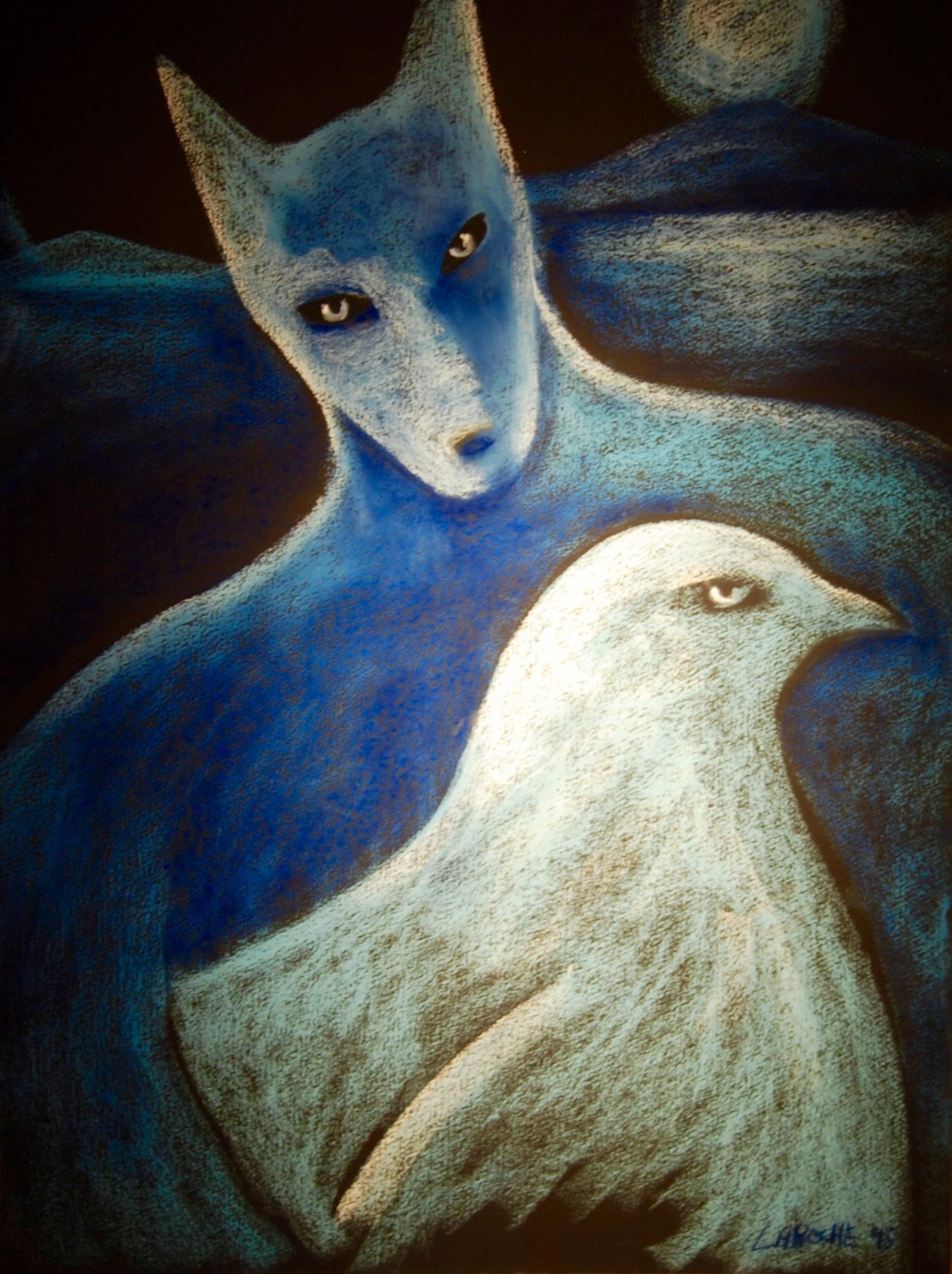 Moonlight Protector - Unframed by Carole LaRoche