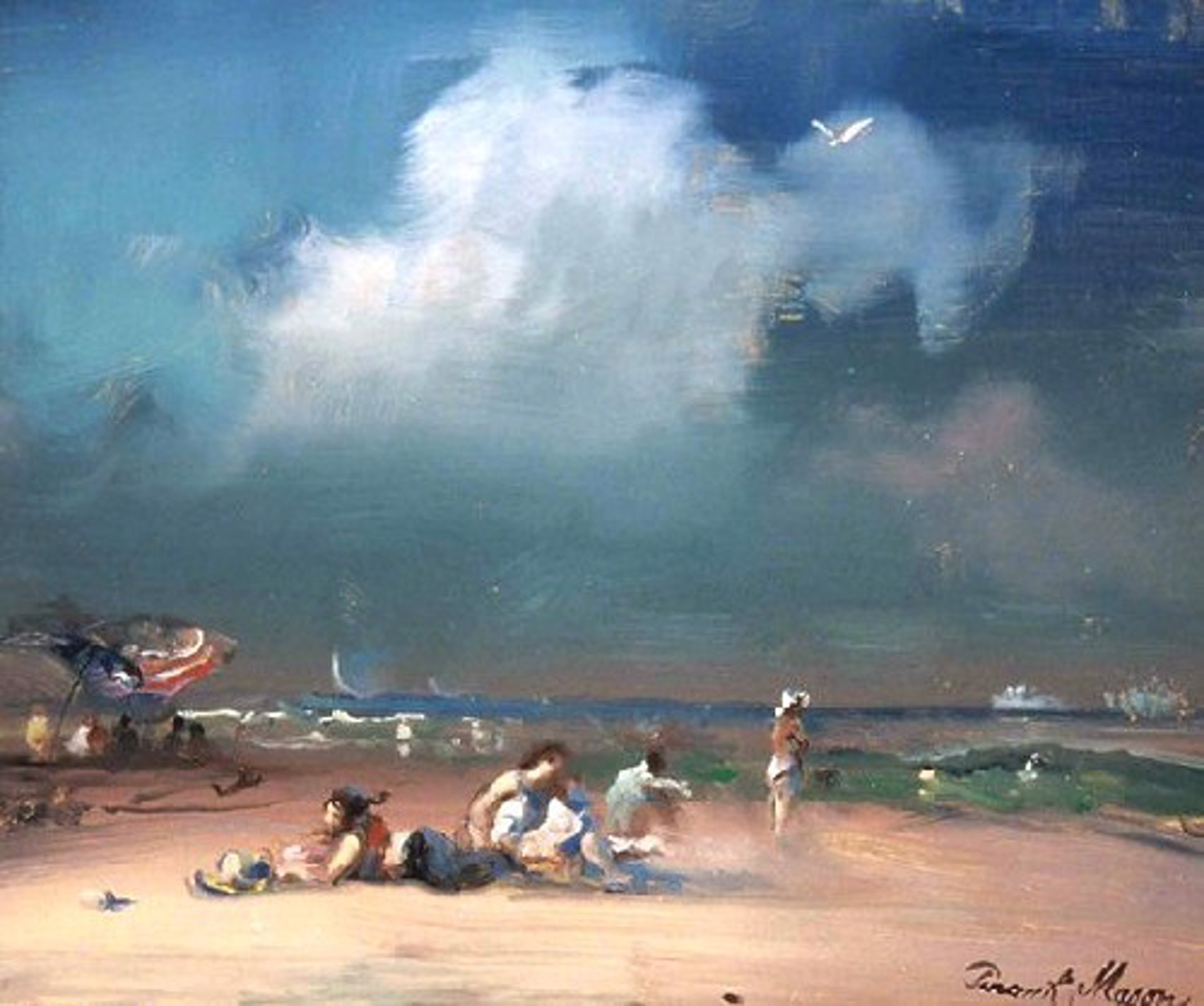 The Bathers, Block Island by Frank Mason (1921 - 2009)
