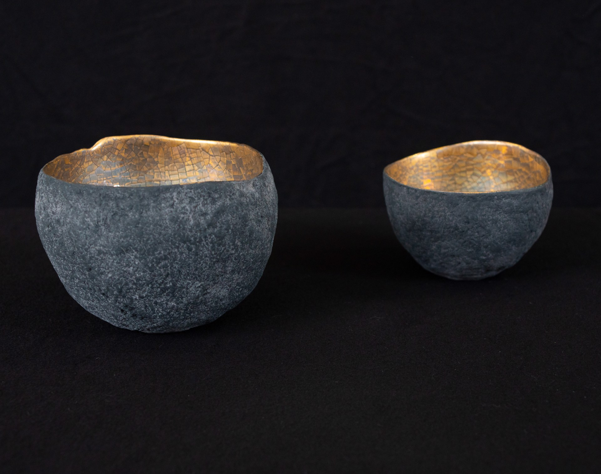 small bowl with platinum and gold
