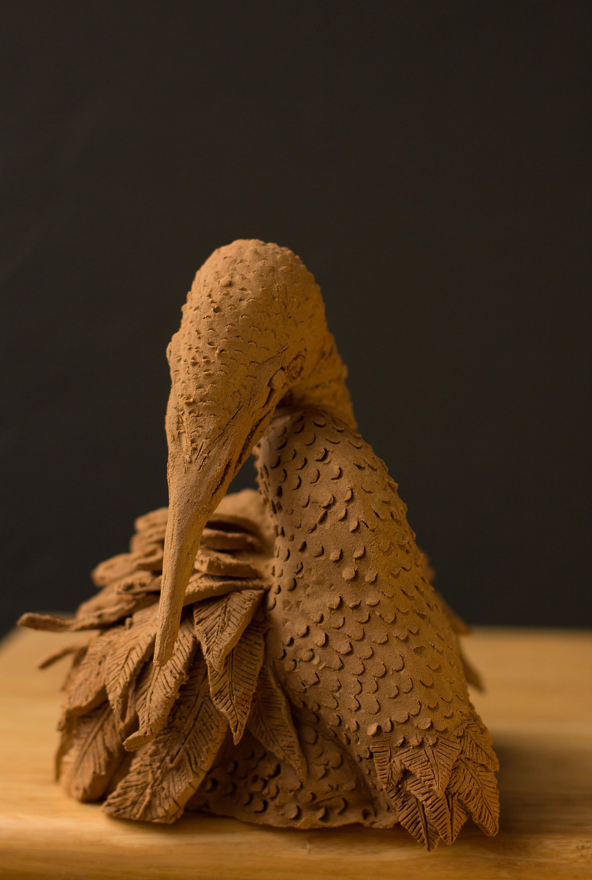 Untitled (clay bird) by Heath Brodie