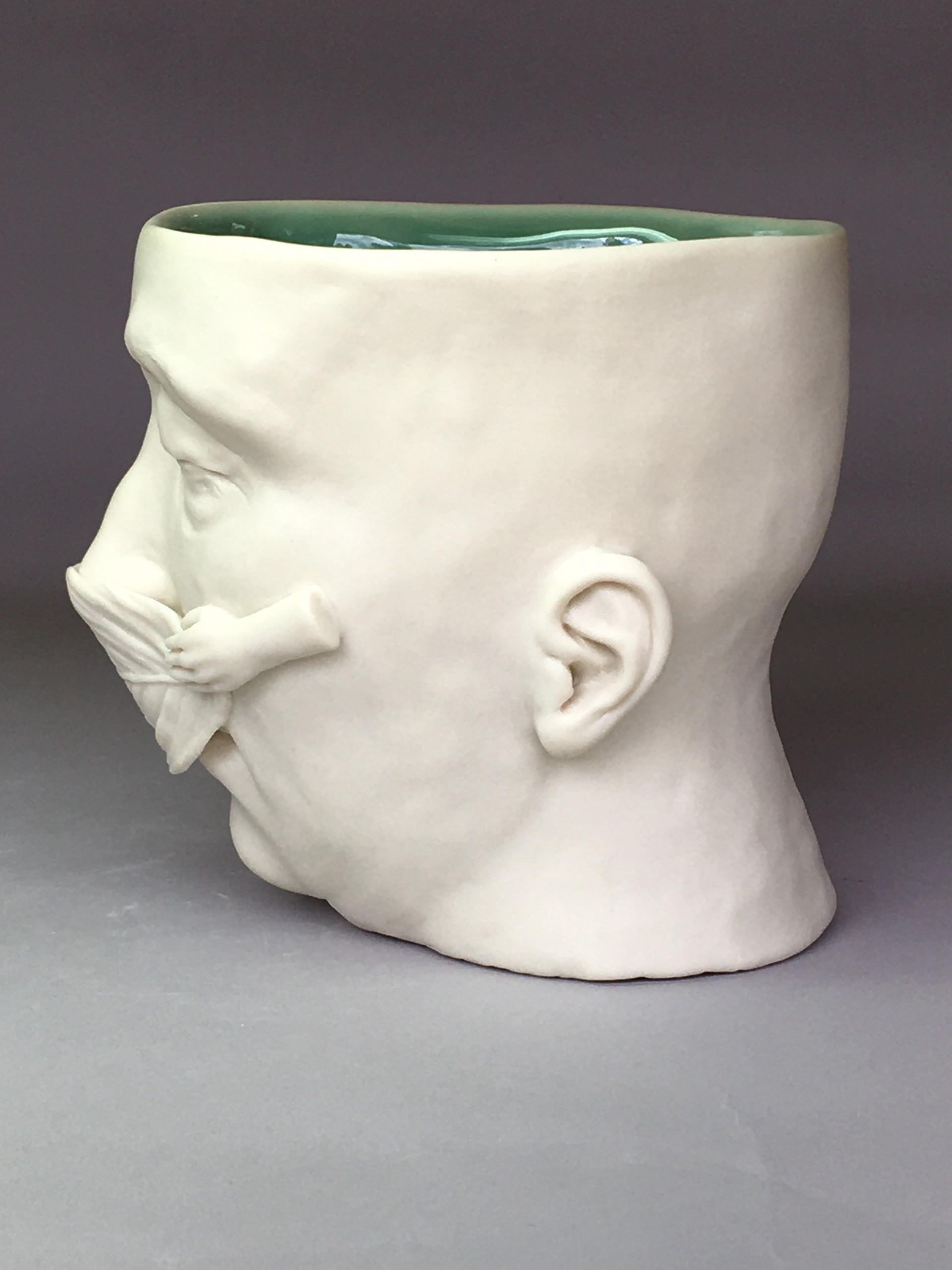 """Leaf Mask, Earth Day I, 2020"" (Large, eyes closed) by Adrian Arleo"