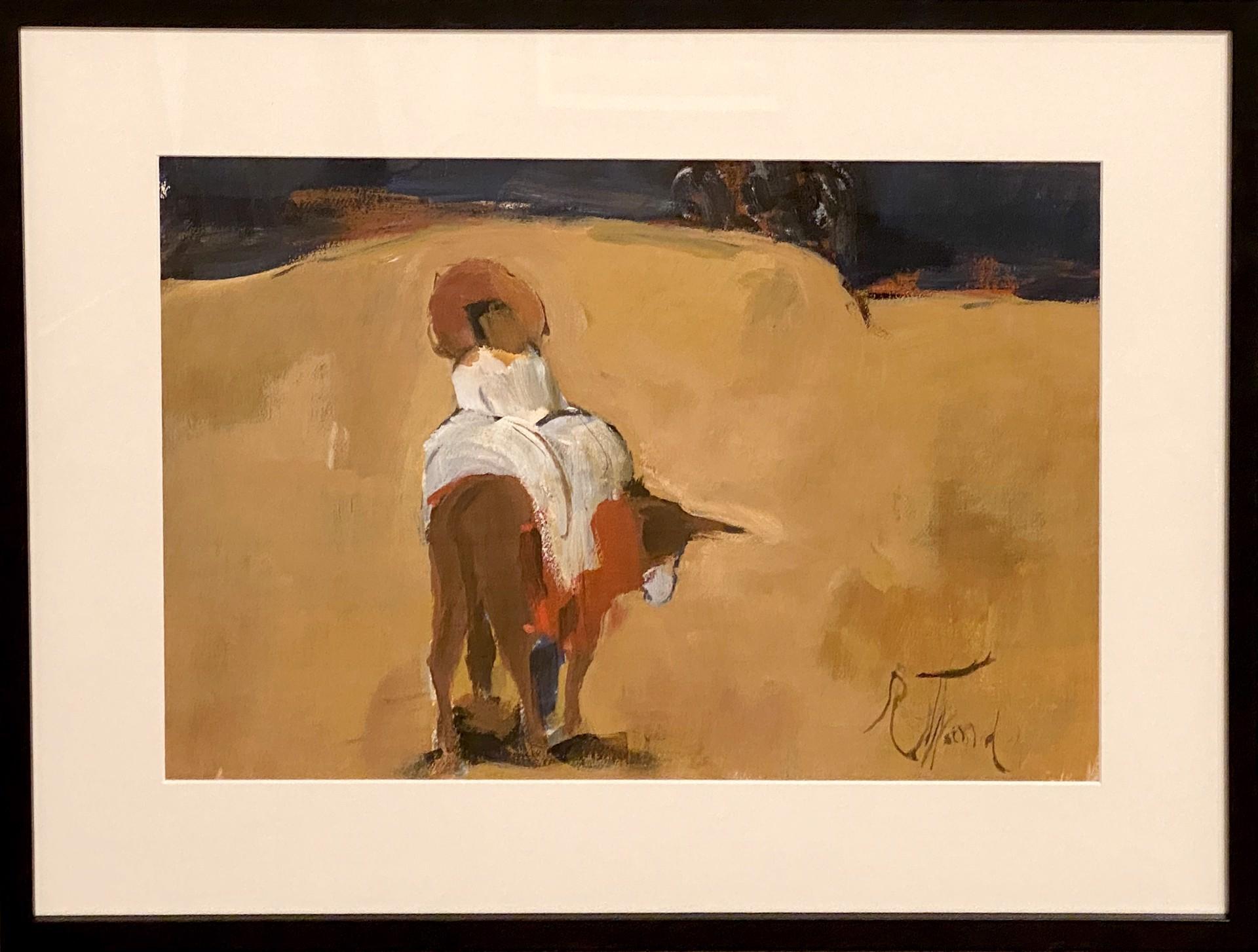 Rider on Donkey by Emily Rutland