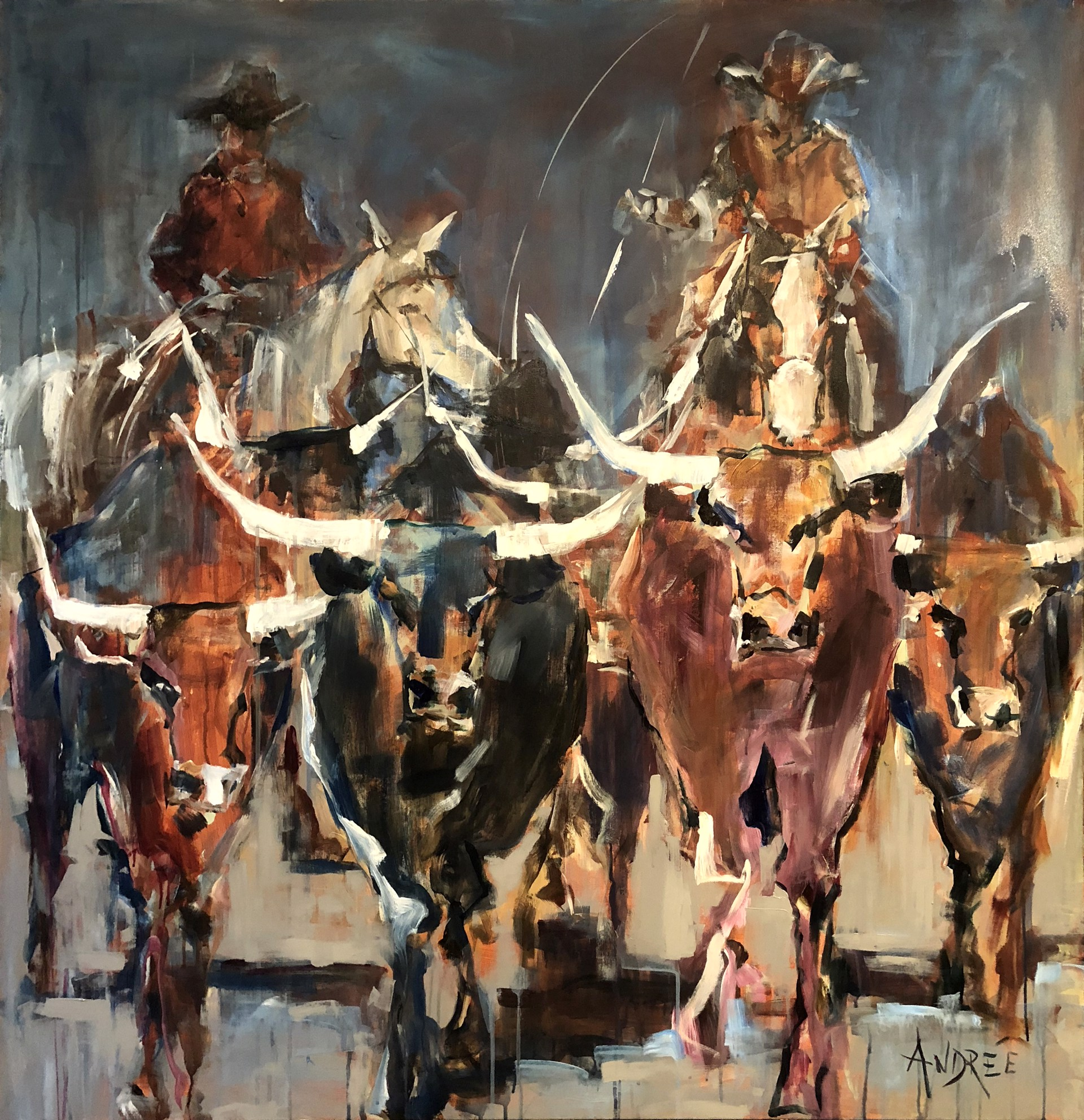 Moving the Herd by Andrée Hudson