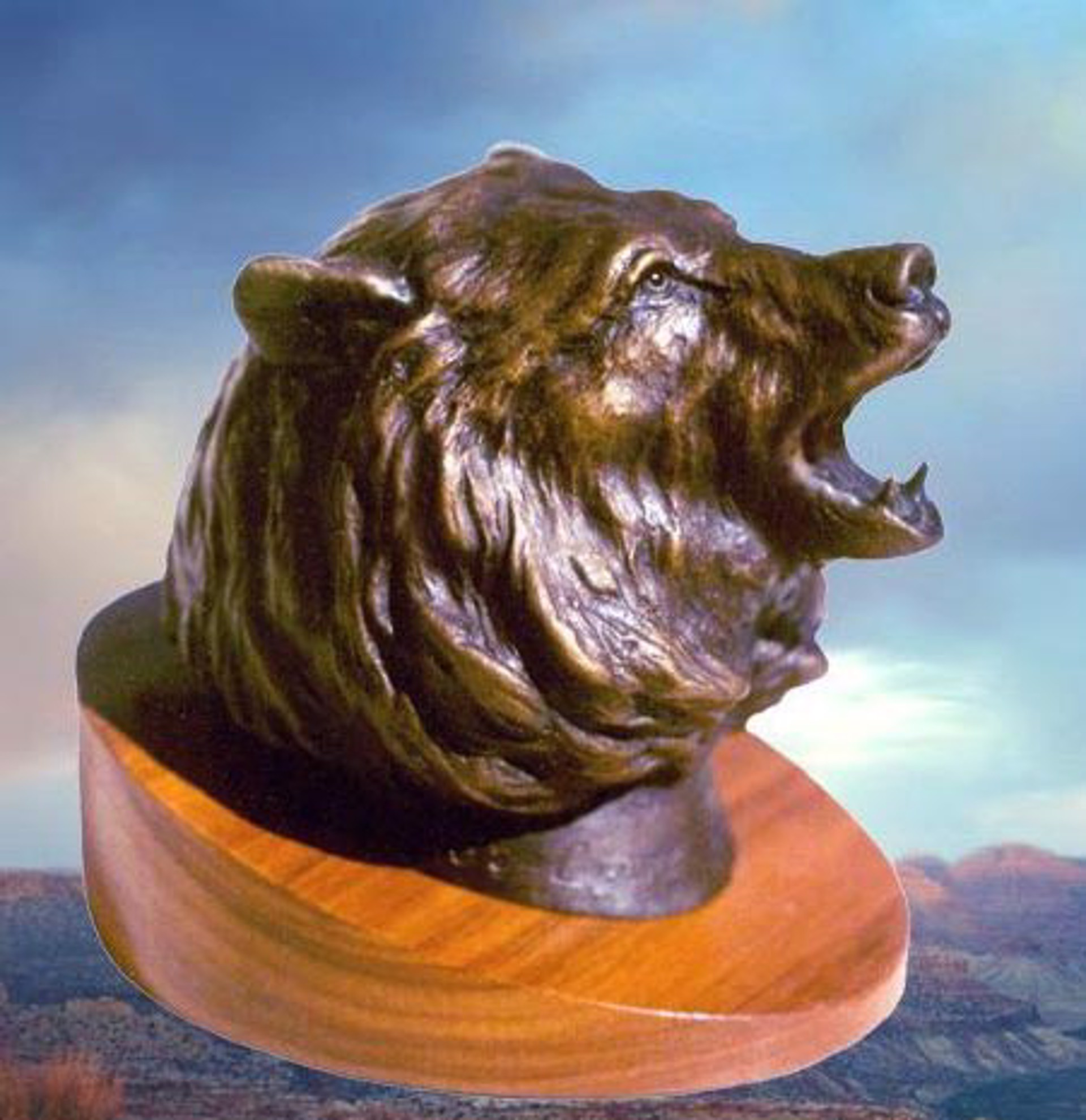 Grizzly Bust by Clark Bronson