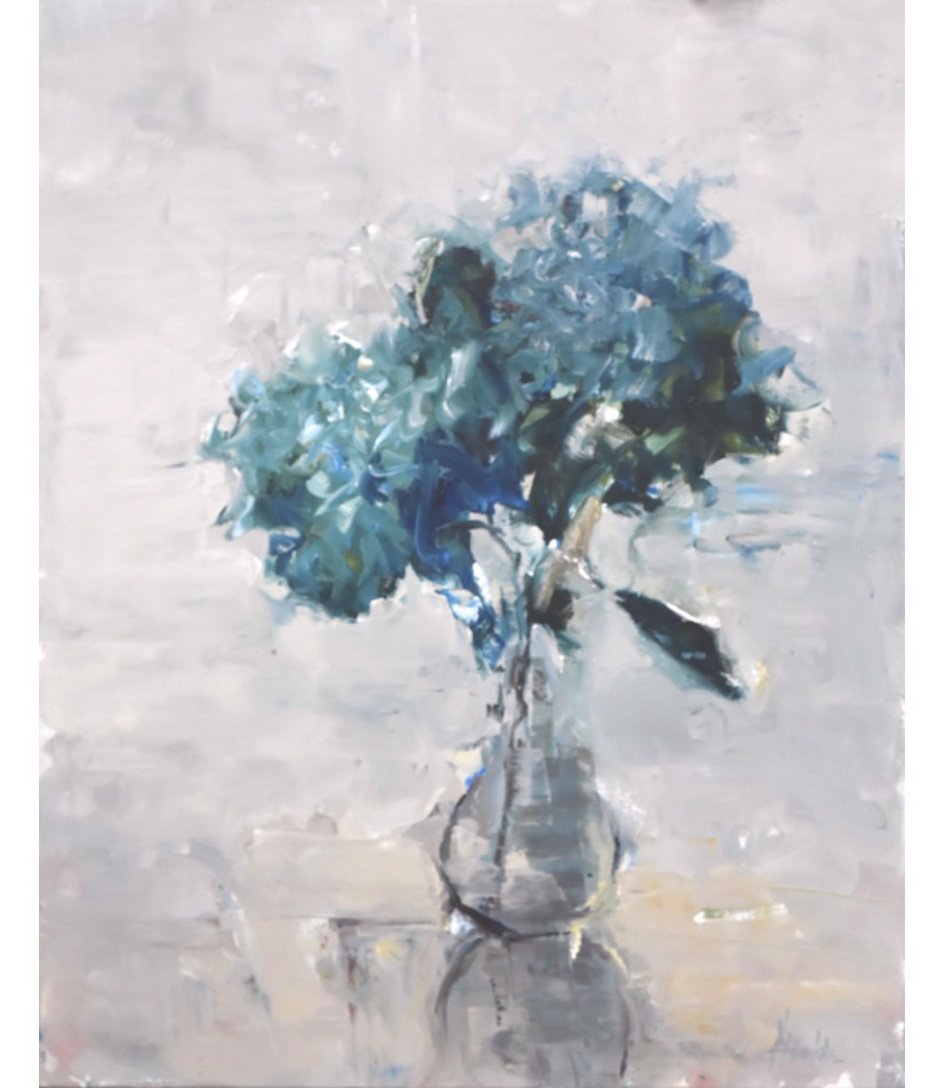 Hydrangeas, Bluegreen by Barbara Flowers