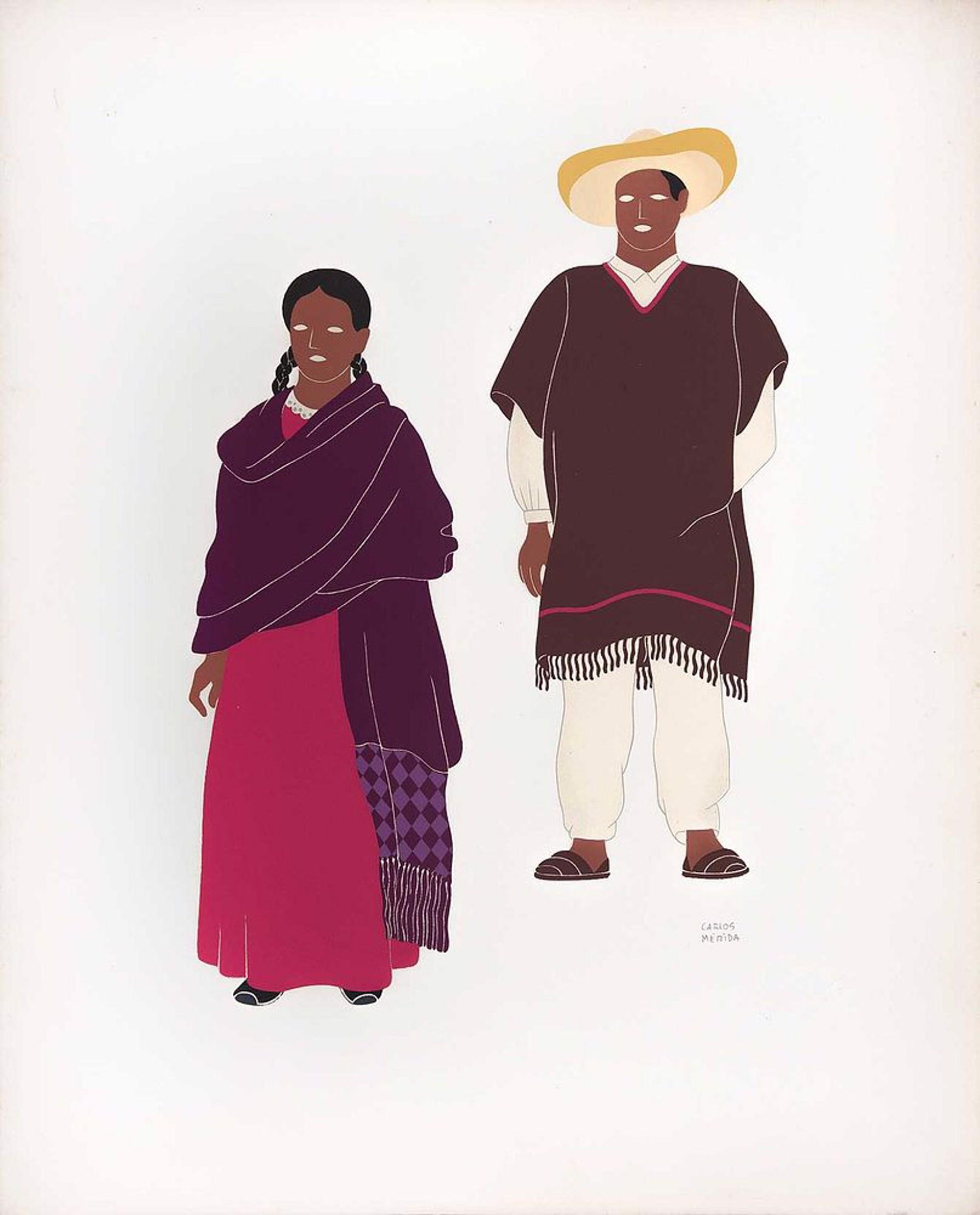 The Sarape & the Rebozo by Carlos Mérida (1891 - 1985)