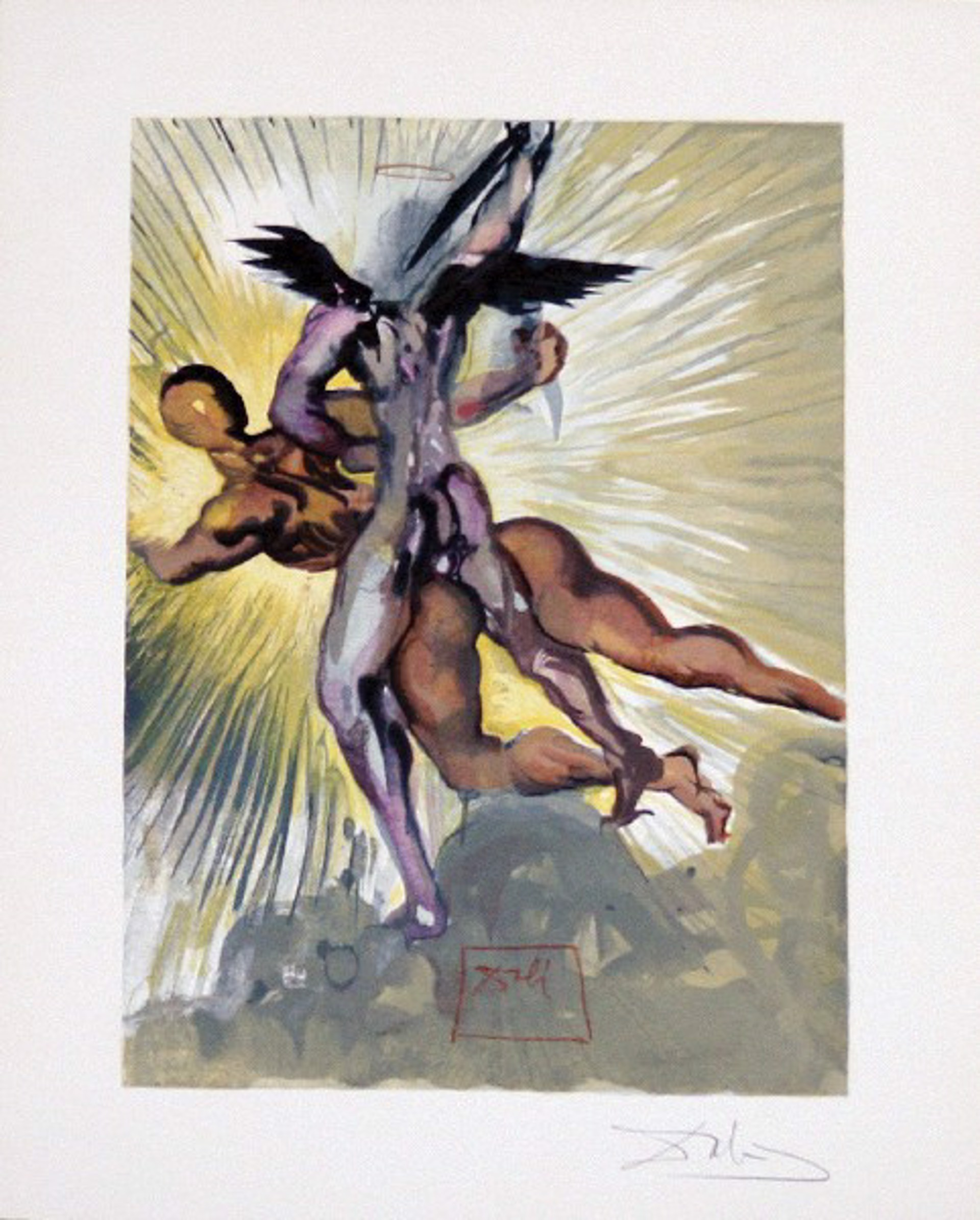 Purgatory Canto 8: The Guardian Angels of the Valley from The Divine Comedy by Salvador Dali (1904 - 1989)