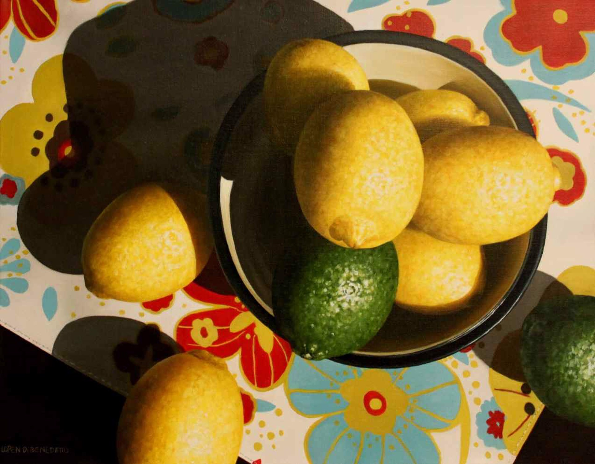 Lemons and Limes from Above by Loren DiBenedetto