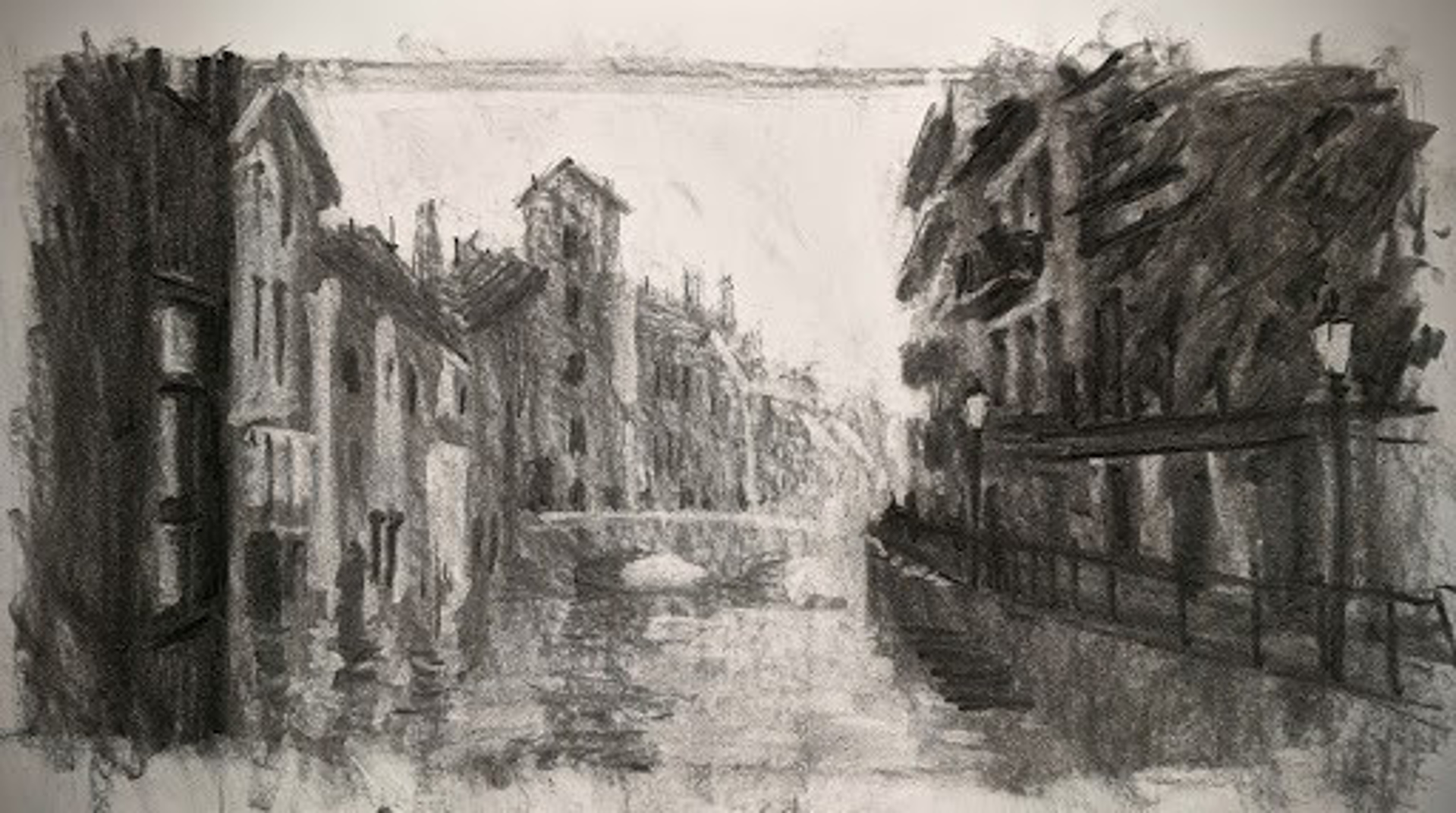Sketch: Annecy, France by Christopher Clark