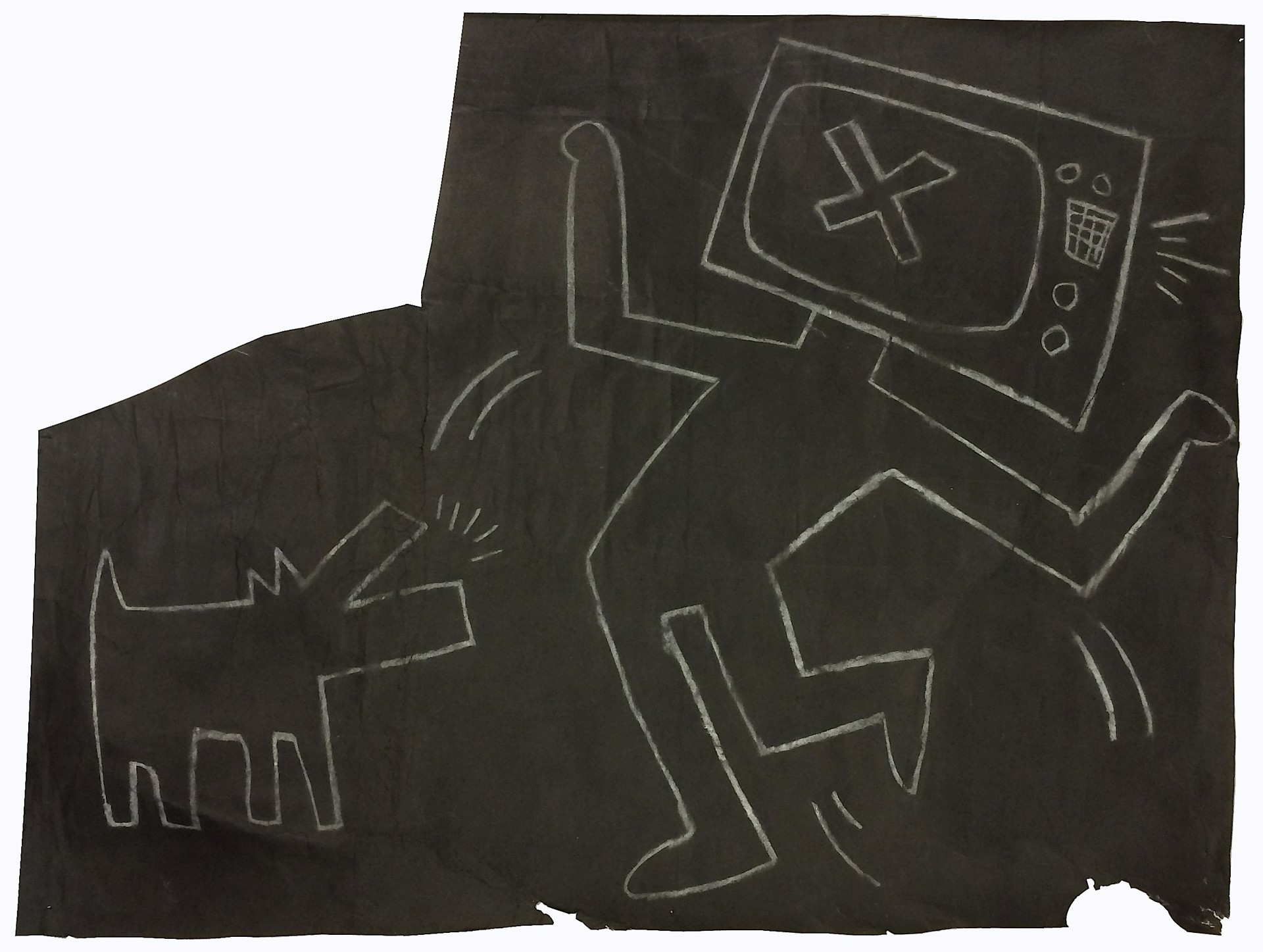TV Man with Barking Dog by Keith Haring