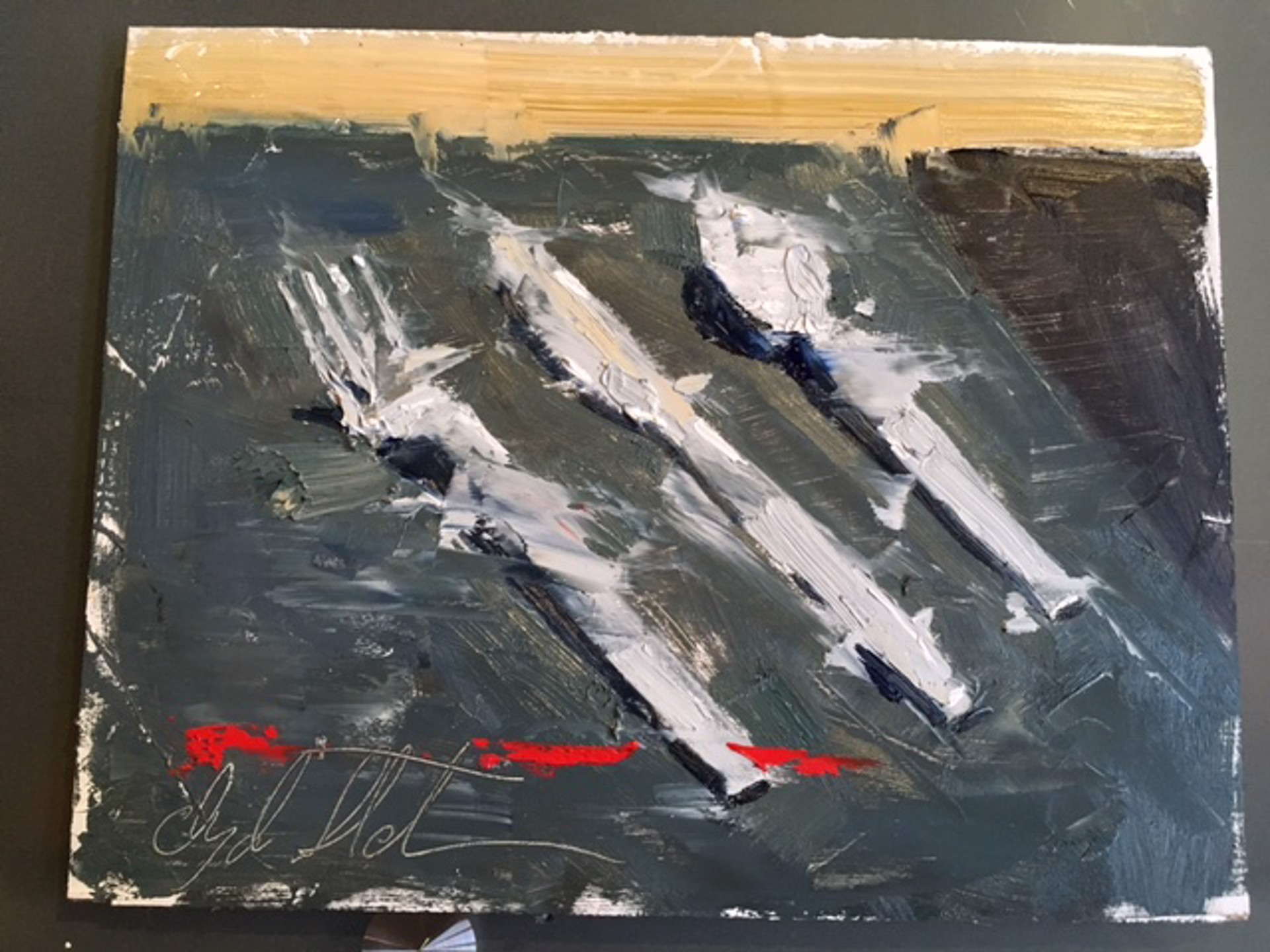 Untitled Silverware Study by Clyde Steadman
