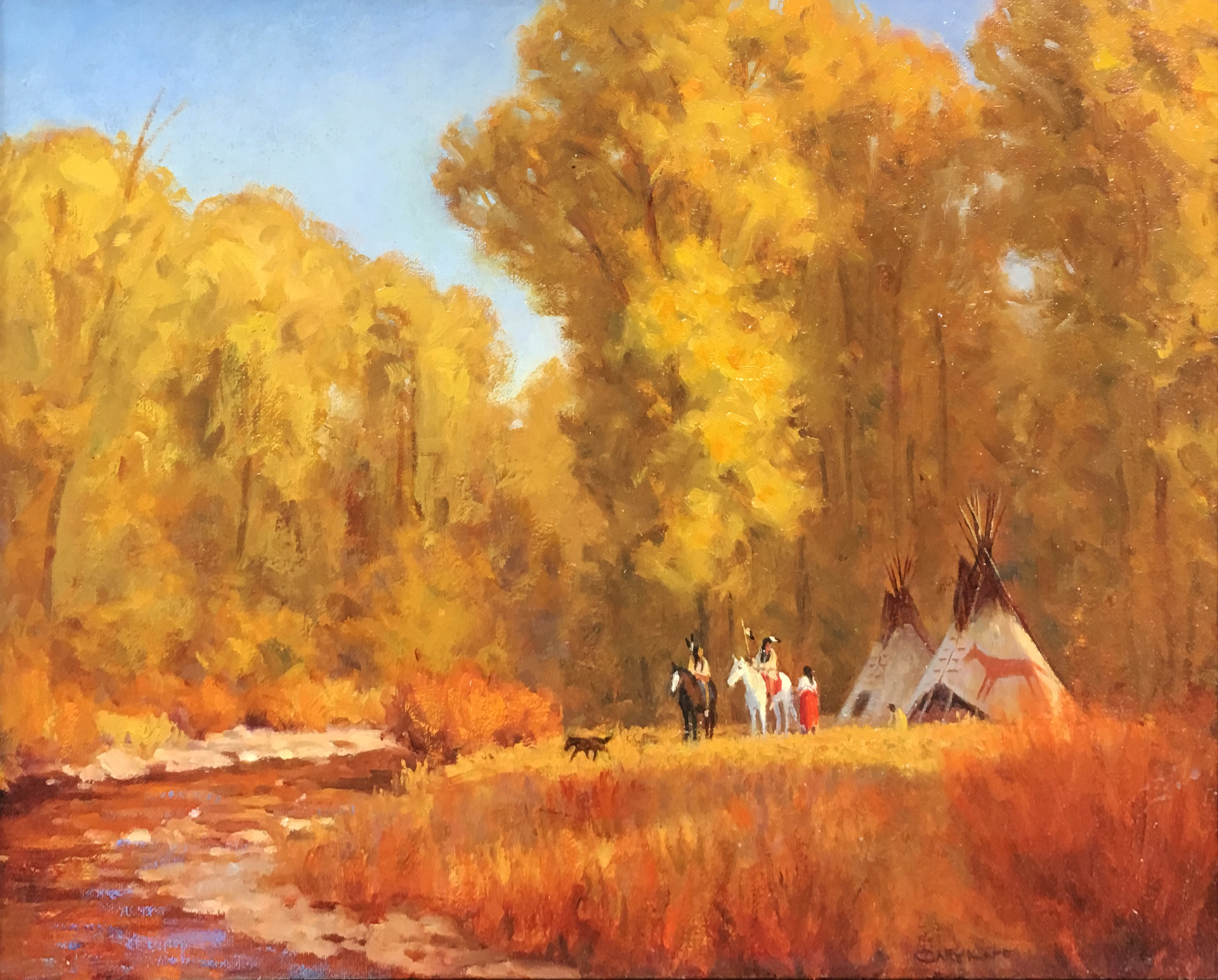 Leaving for the Last Hunt by Gary Kapp