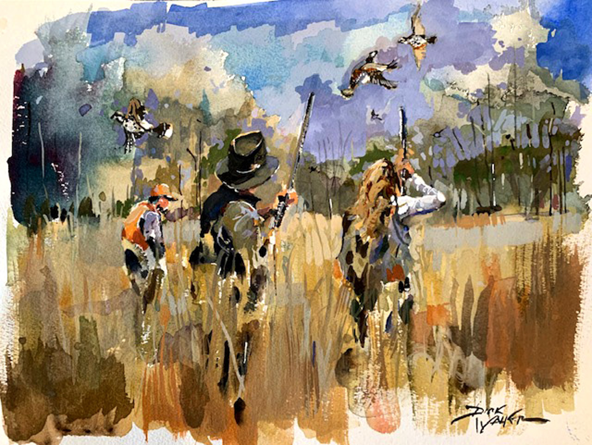 Father & Daughter Quail Hunt by Dirk Walker