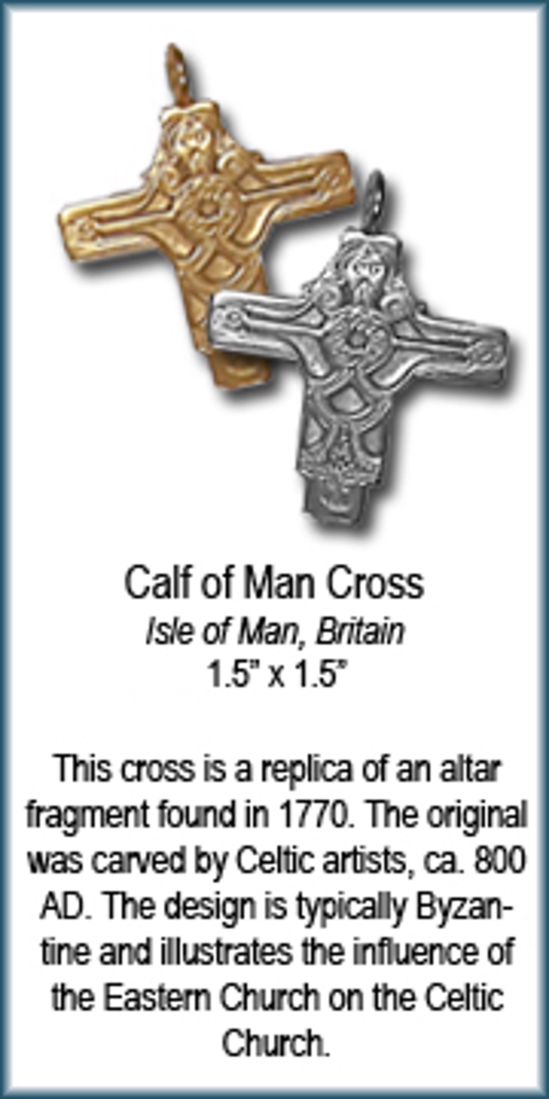 Pendant - Bronze Calf Of Man Cross 7566 by Deanne McKeown