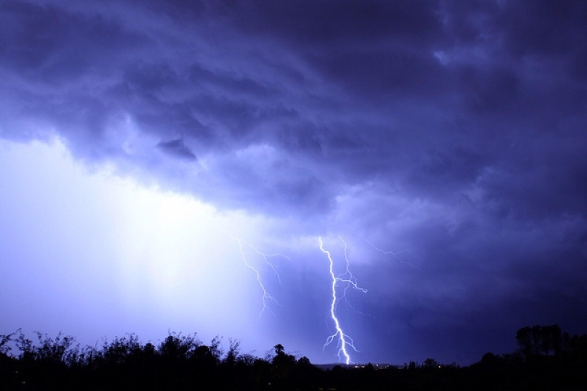 Rain & Lightning by John Hays