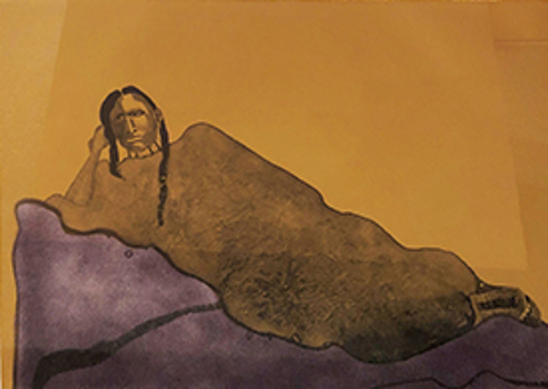 Reclining Indian Woman by Fritz Scholder