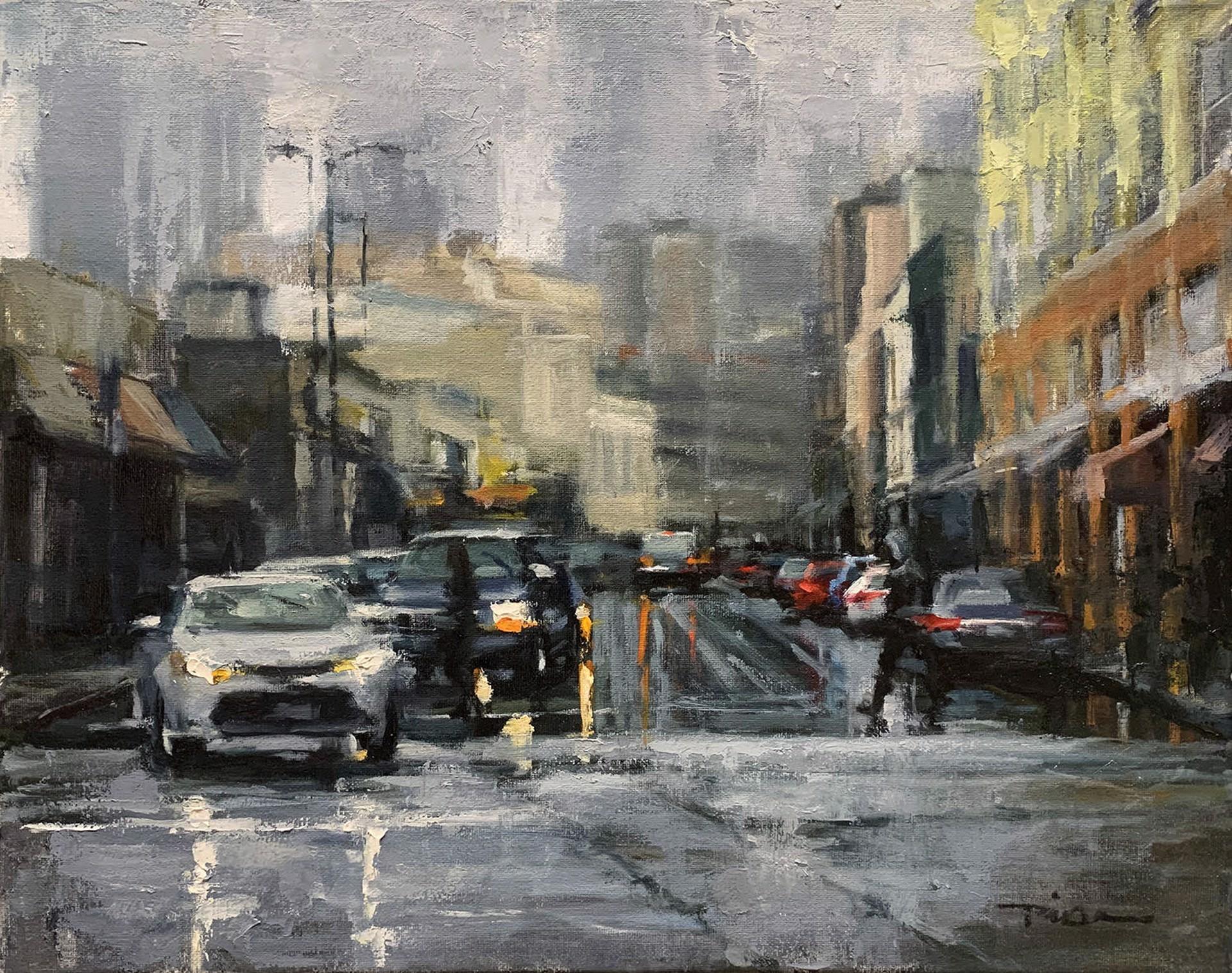 Downtown Rain by Pil Ho Lee