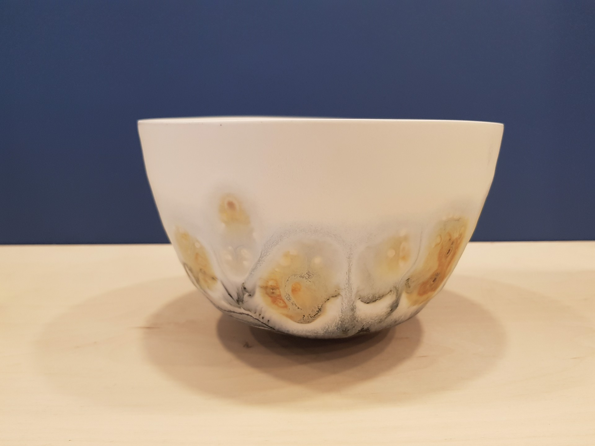 Yellow/Orange/Blue Open Bowl by Kyra Cane