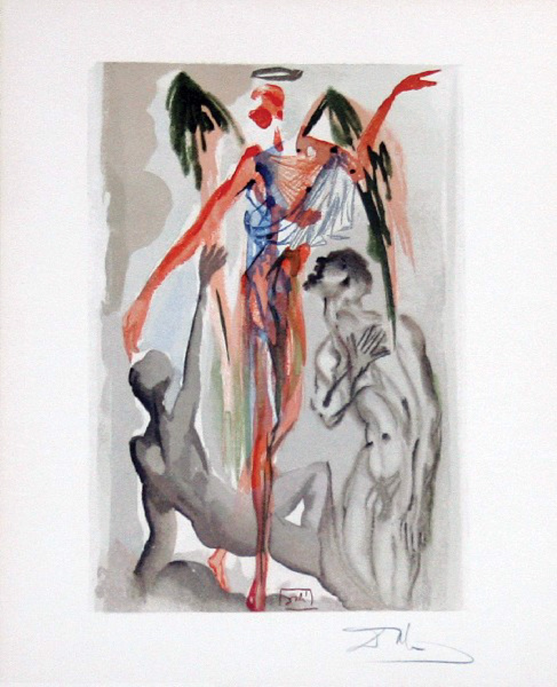Purgatory Canto 32: The Earthly Paradise from The Divine Comedy by Salvador Dali (1904 - 1989)