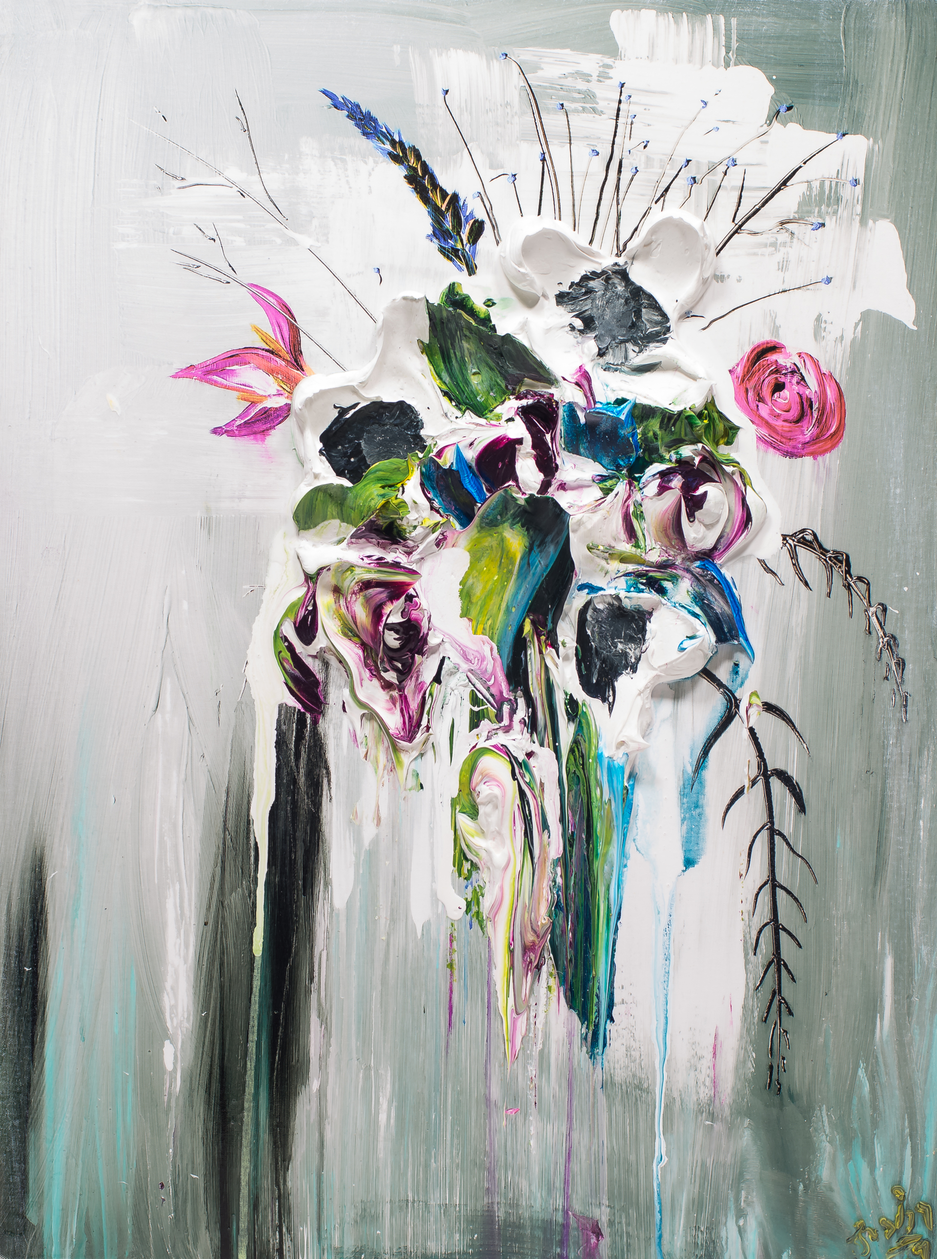 ABSTRACT FLORAL BOUQUET by JUSTIN GAFFREY