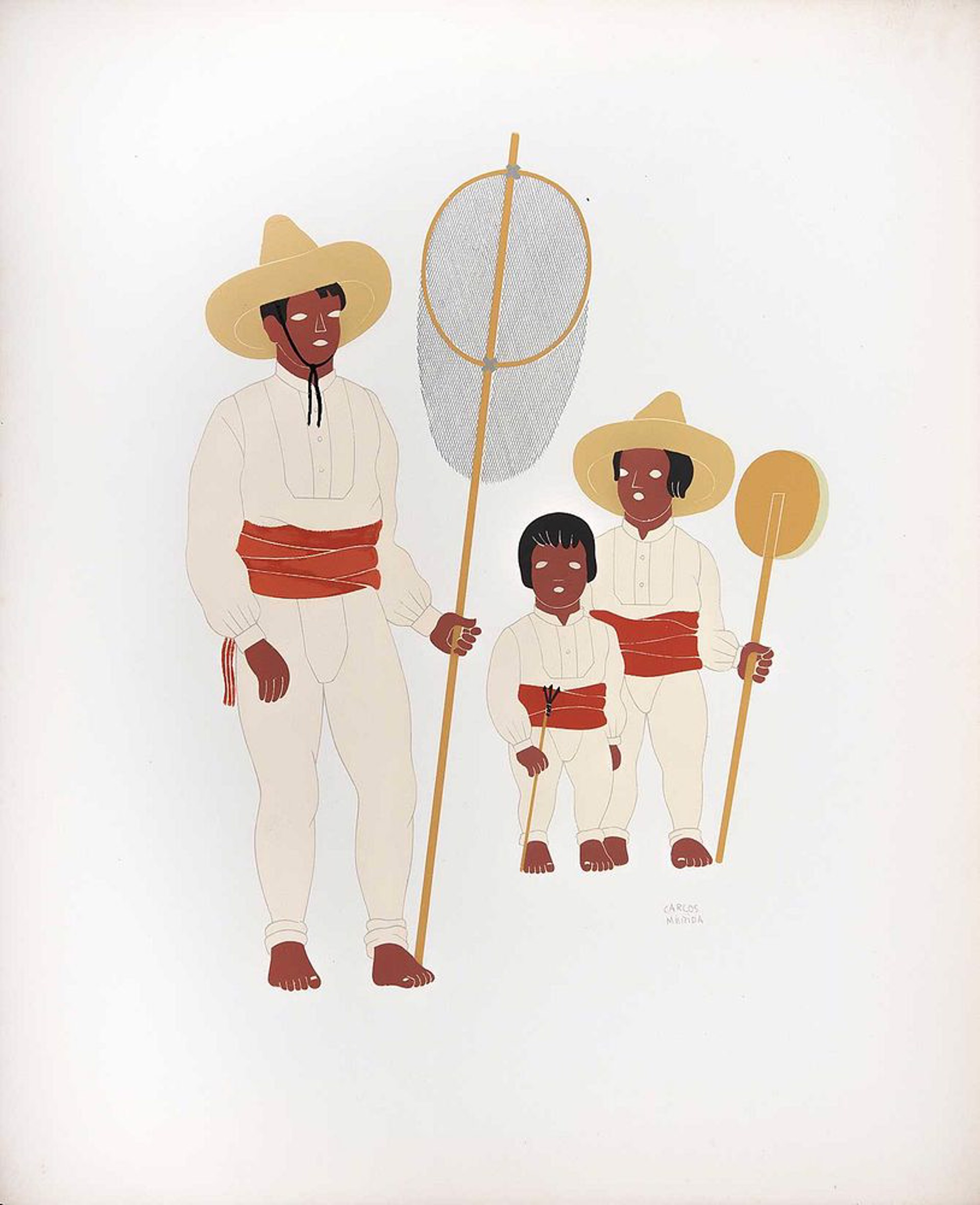Tarascans of the State of Michoacan (B) by Carlos Mérida (1891 - 1985)