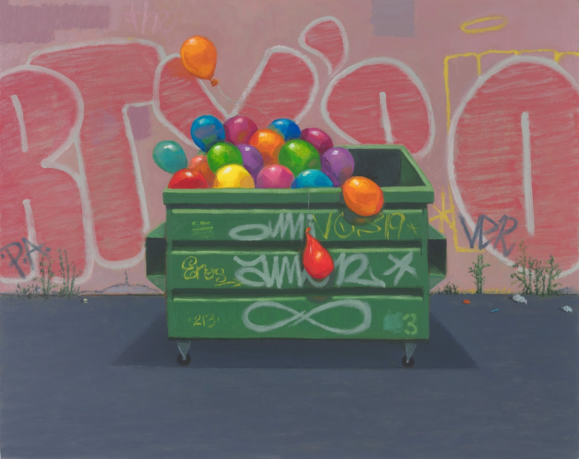 Balloon Dumpster (The Party's Over) by Vonn Cummings Sumner