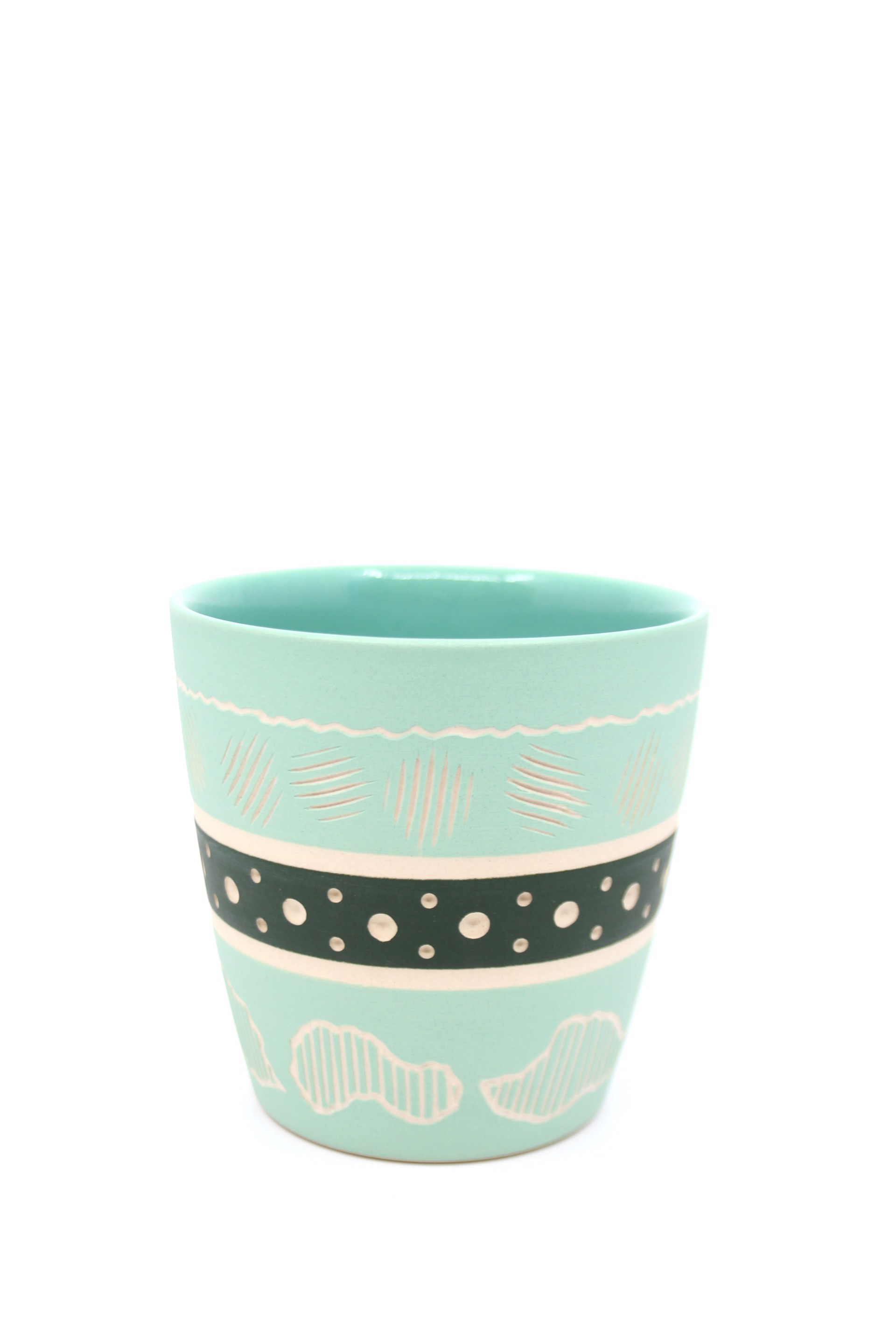 Mint/Forest Green Cup by Chris Casey