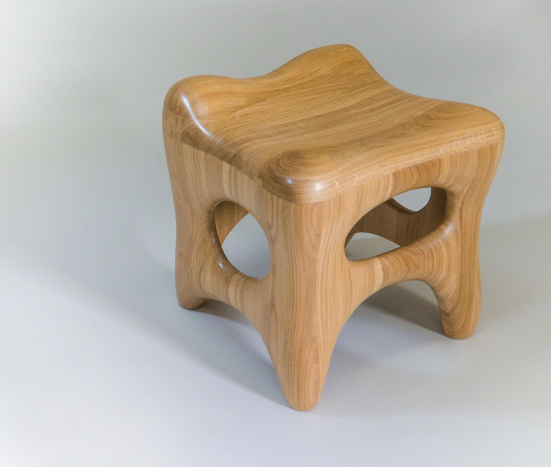 """Osselet"" Oak stool   by Jacques Jarrige"