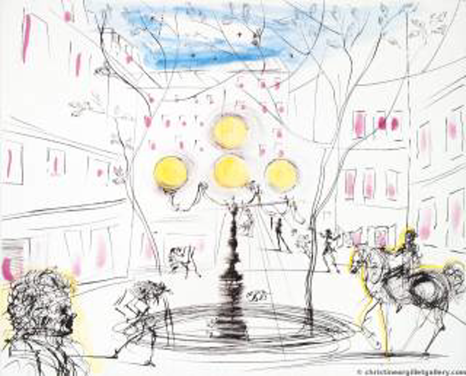 Place Furstenberg by Salvador Dali