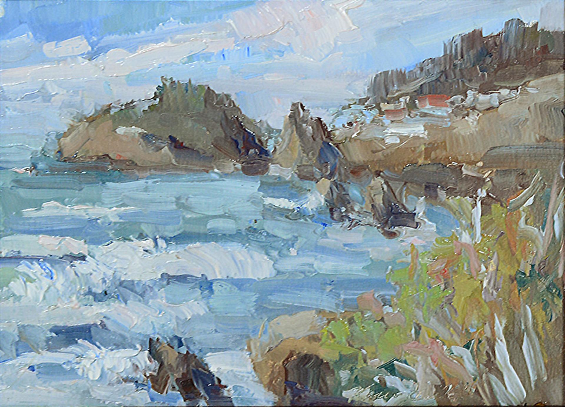 Rocky Coast, California by Karen Hewitt Hagan