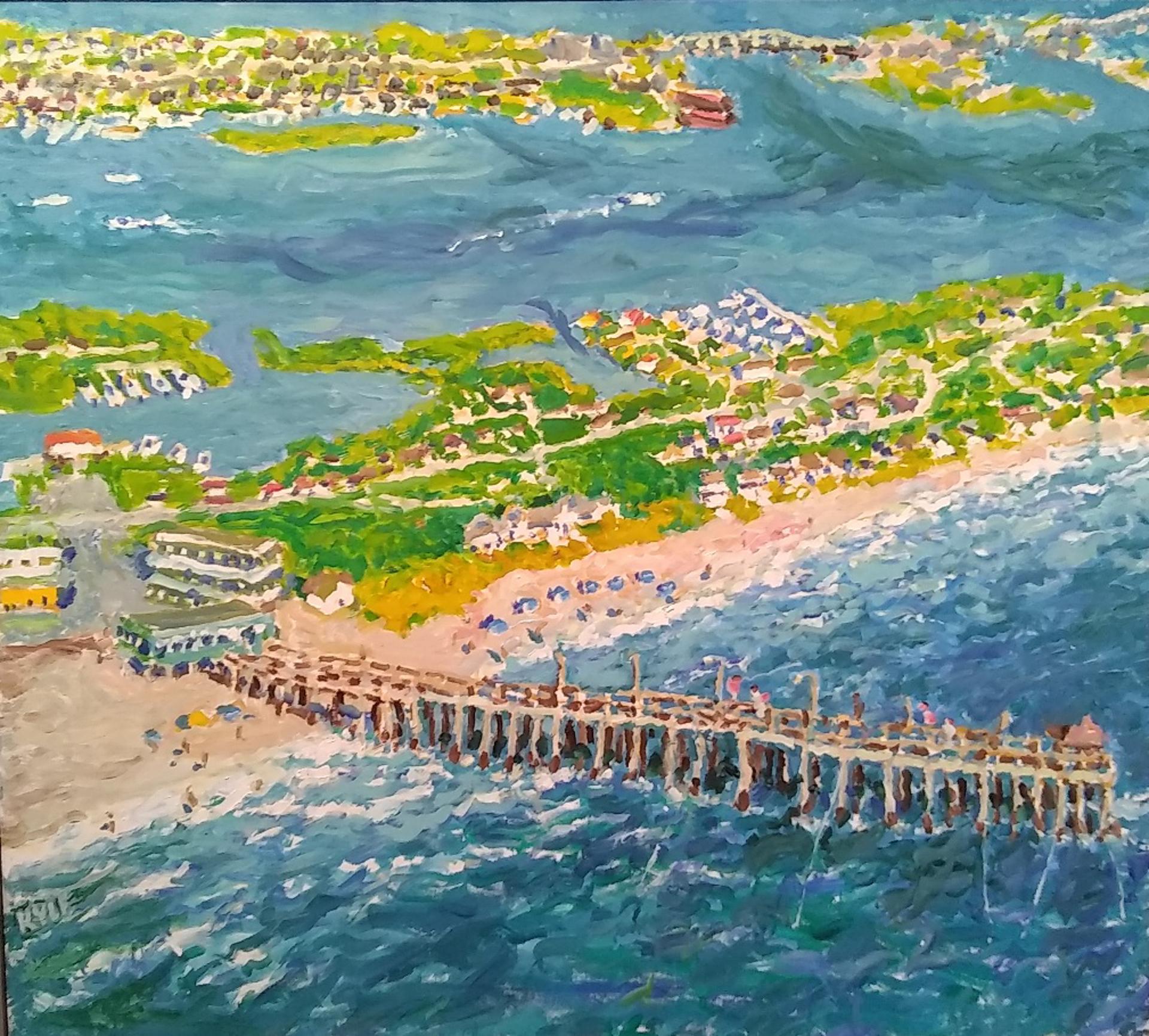 Sky View Over Atlantic Beach by Kyle Highsmith