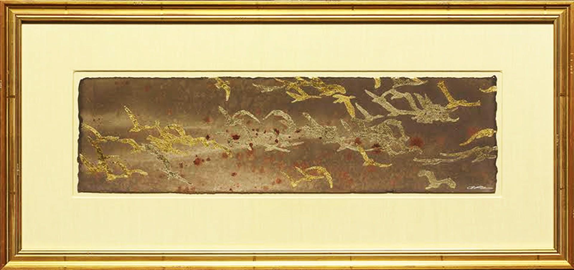 Calligraphy Of Cranes II by Thomas Swanston