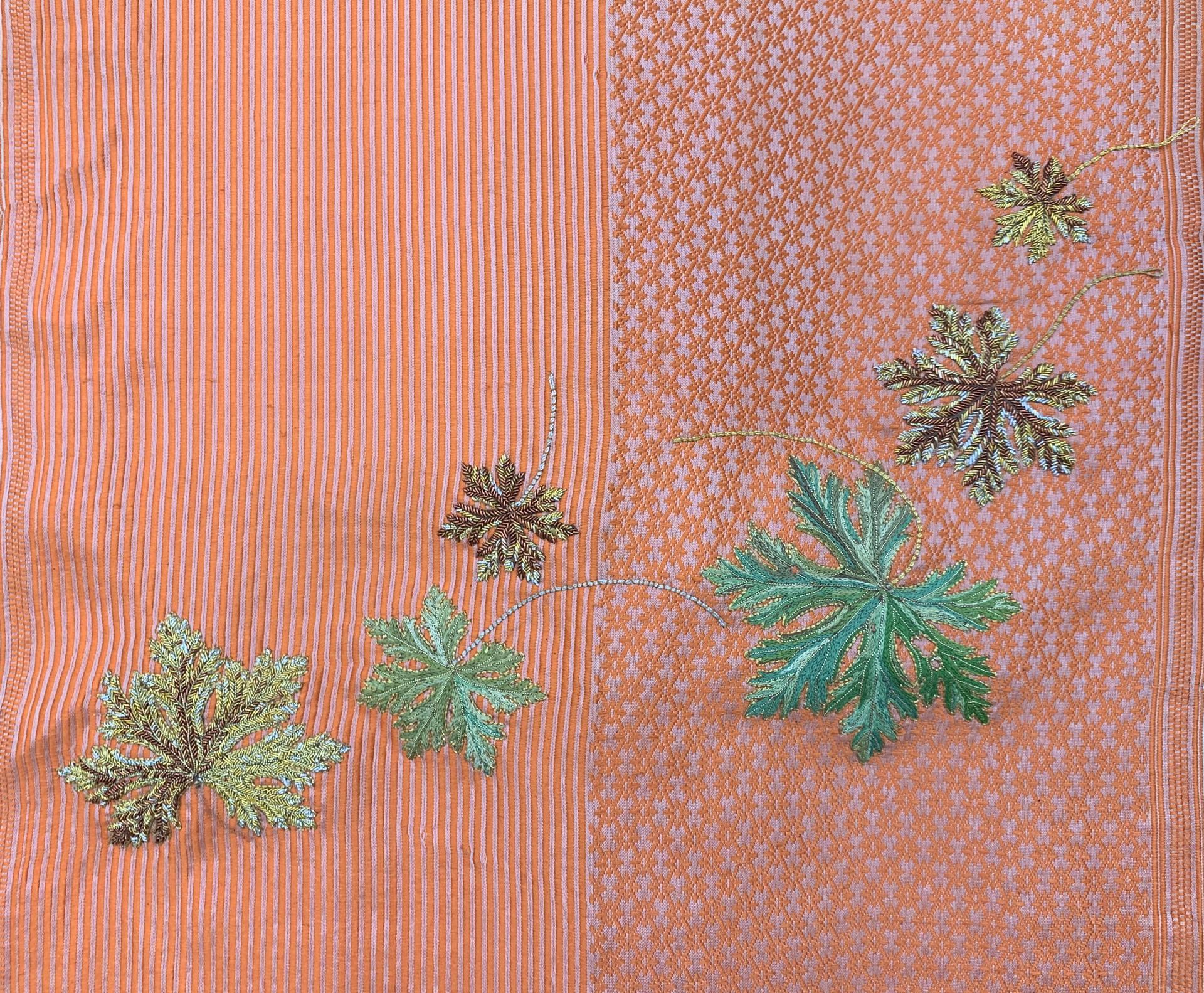 Meditation Screen I: Geranium Leaves by Tiao Nithakhong Somsanith
