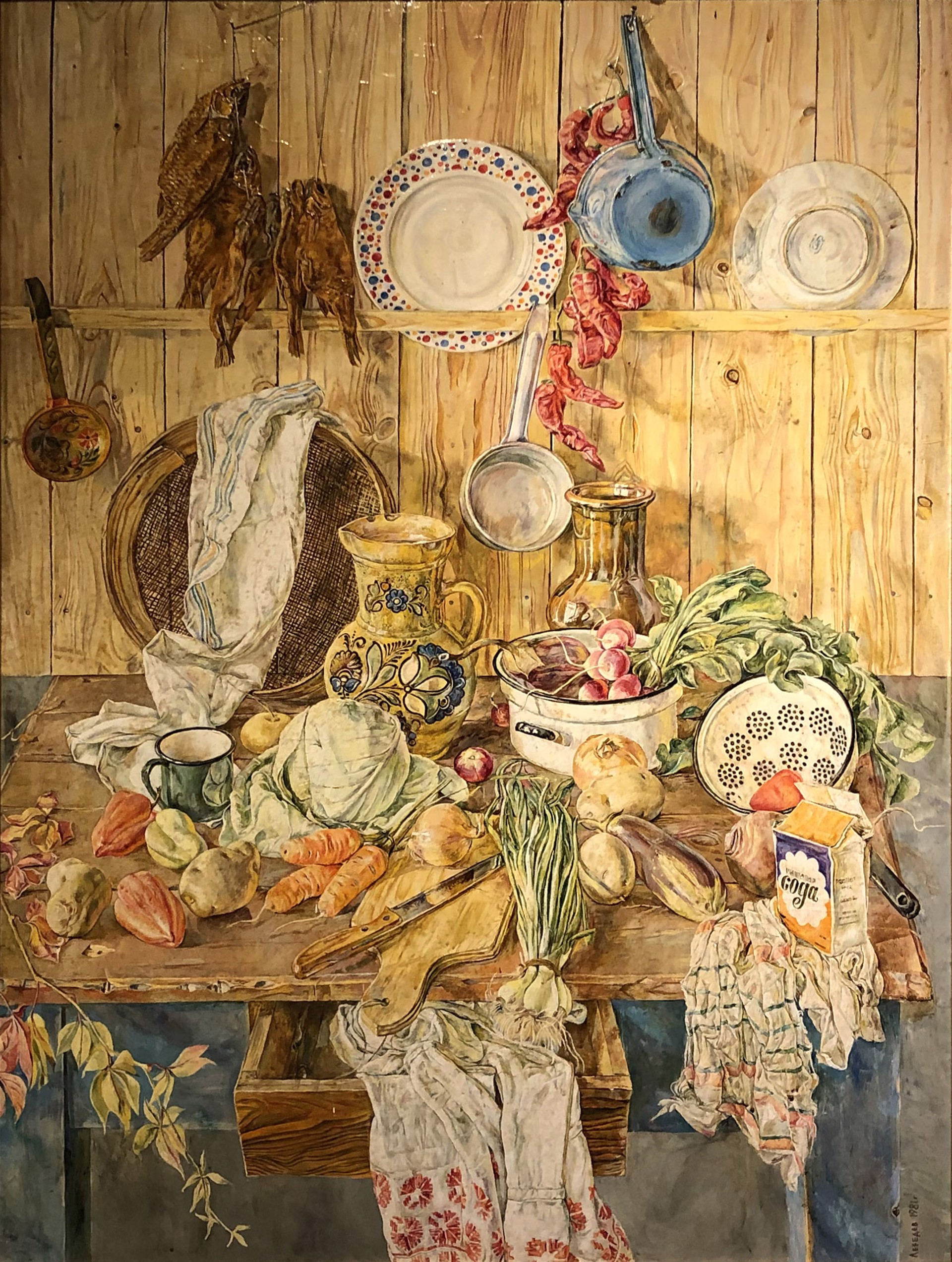 Yuri Alekseevich Lebedev - Kitchen Still Life by Russian Artists