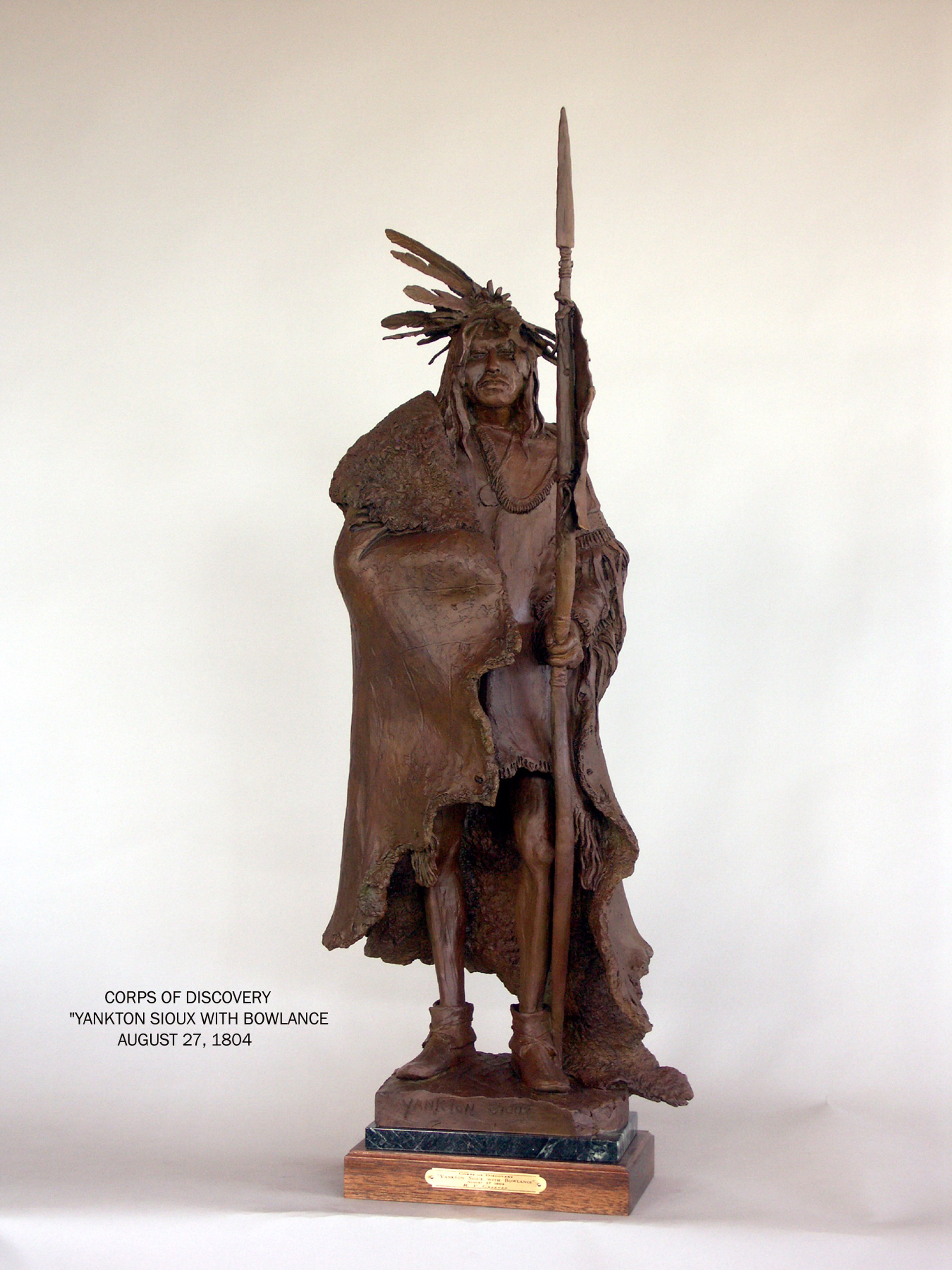 Yankton Sioux with Bowlance by Richard Greeves