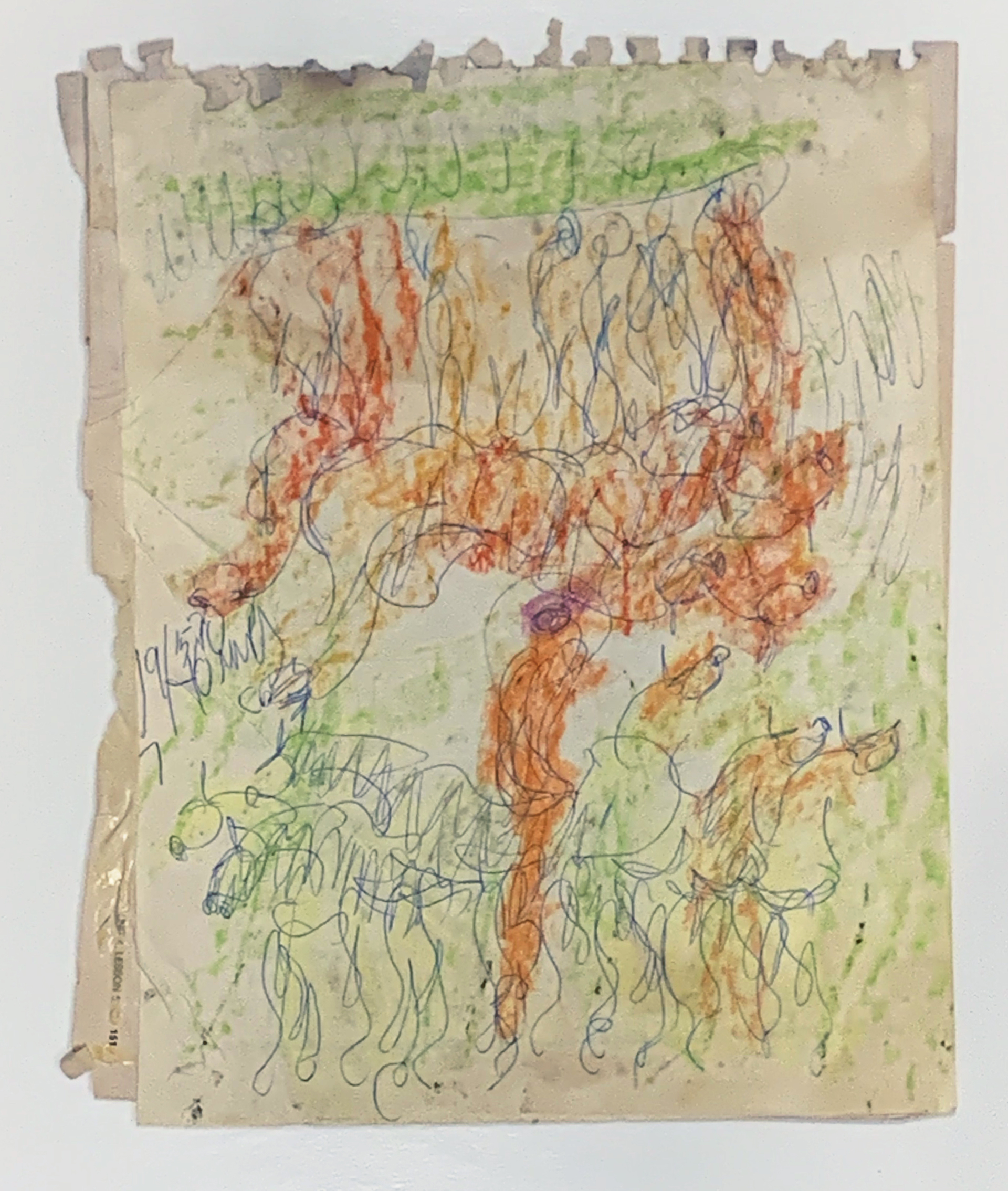 Drawing from the 1980's #20 by Purvis Young (1943 - 2010)