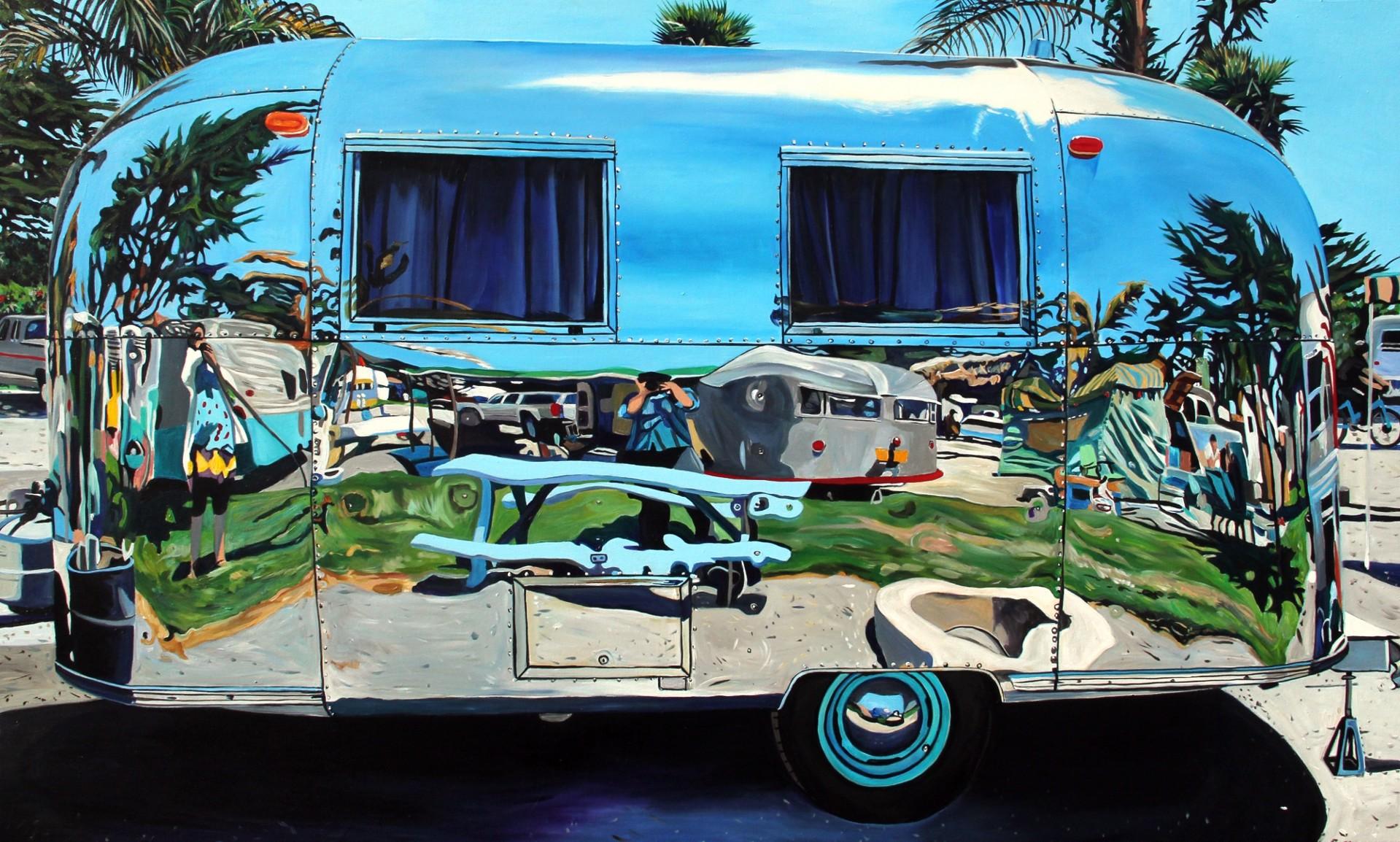 Angie and Taralee Airstream, Pismo Beach by Taralee Guild