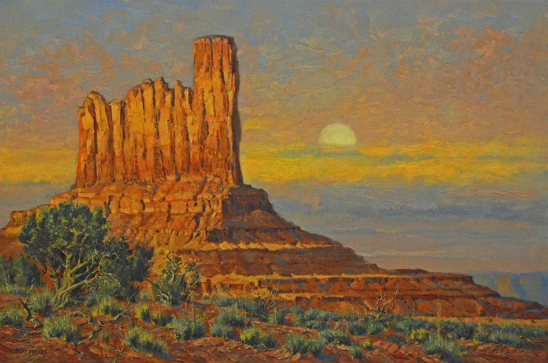 Southwestern Moonrise by Robert Peters