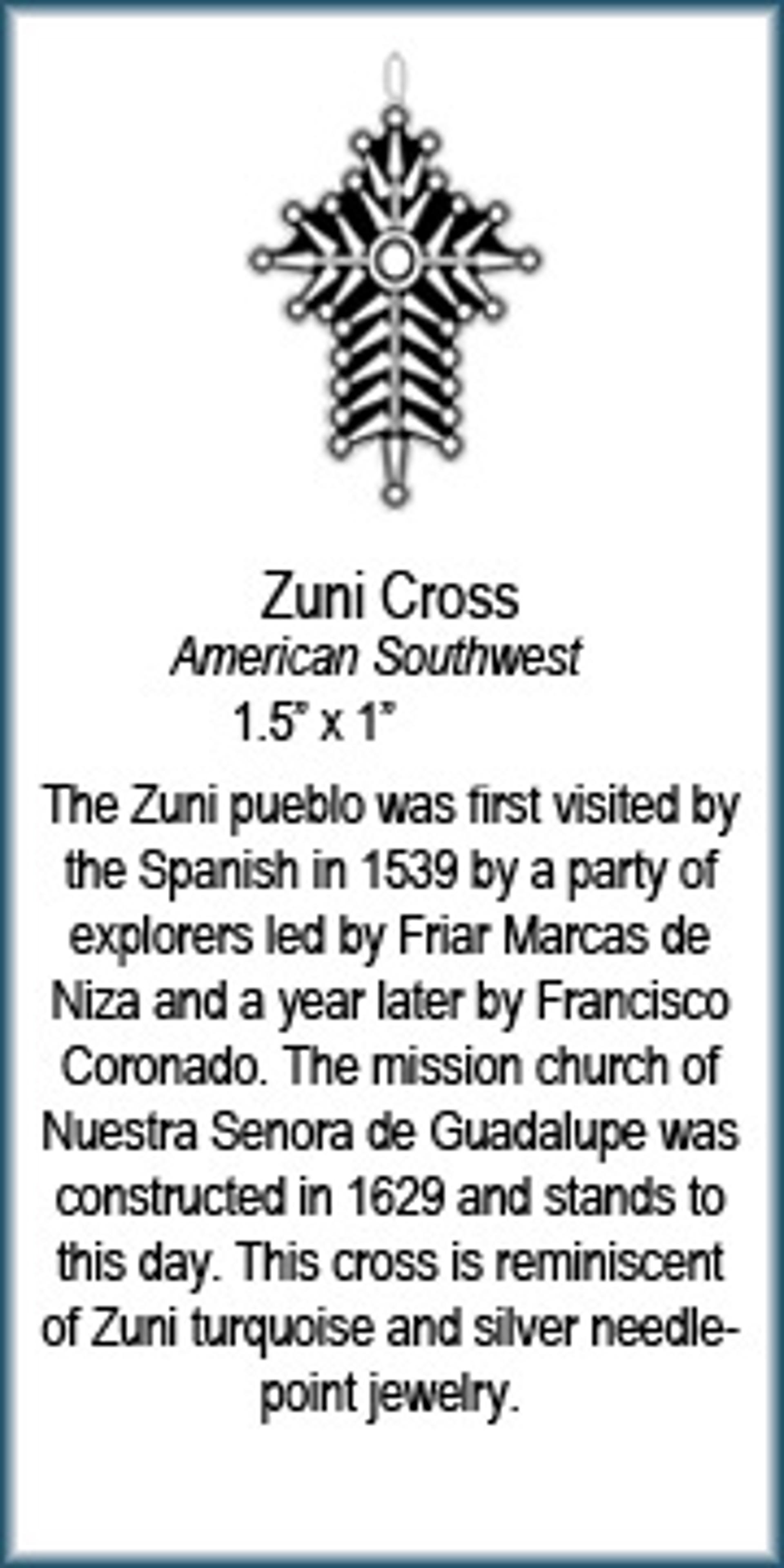 Pendantt - Zuni Cross - 7757 by Deanne McKeown