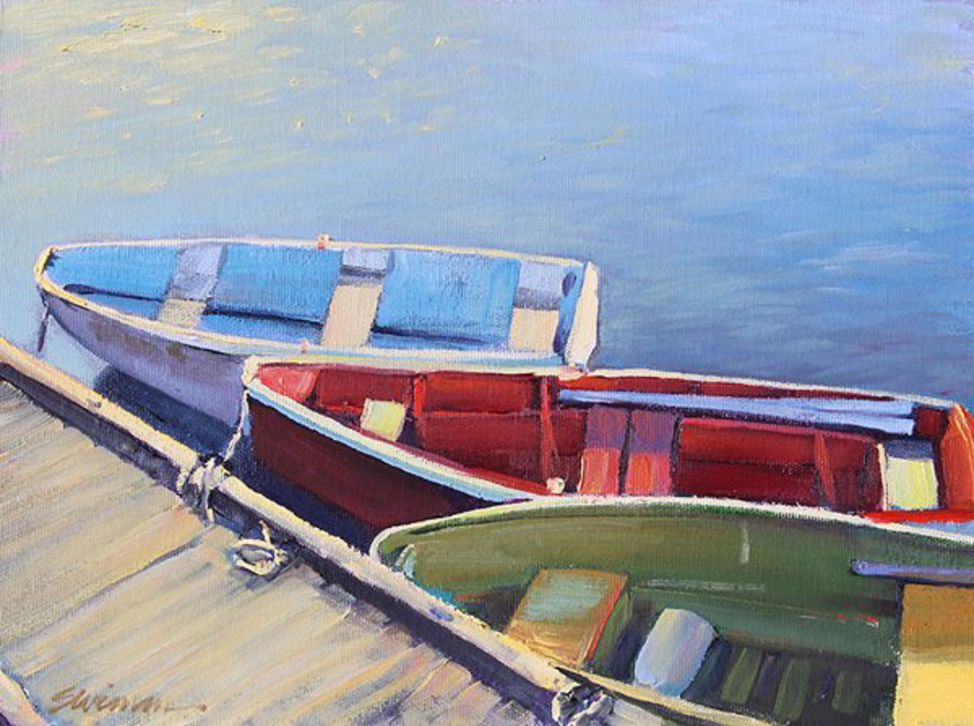 Tom Swimm:Above The Dock by Tom Swimm