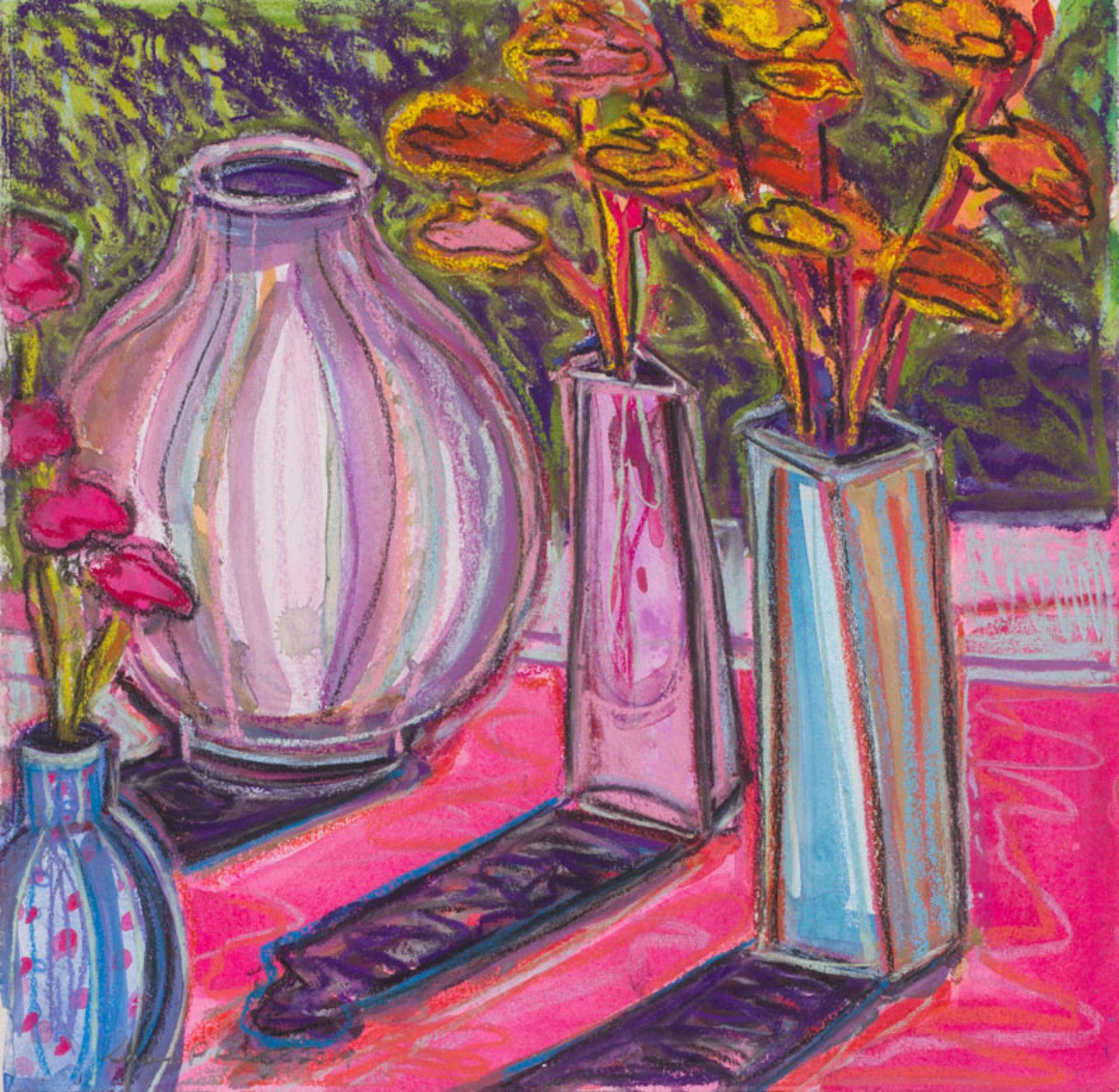 Carnations and Adler Vase II by Susan Puelz