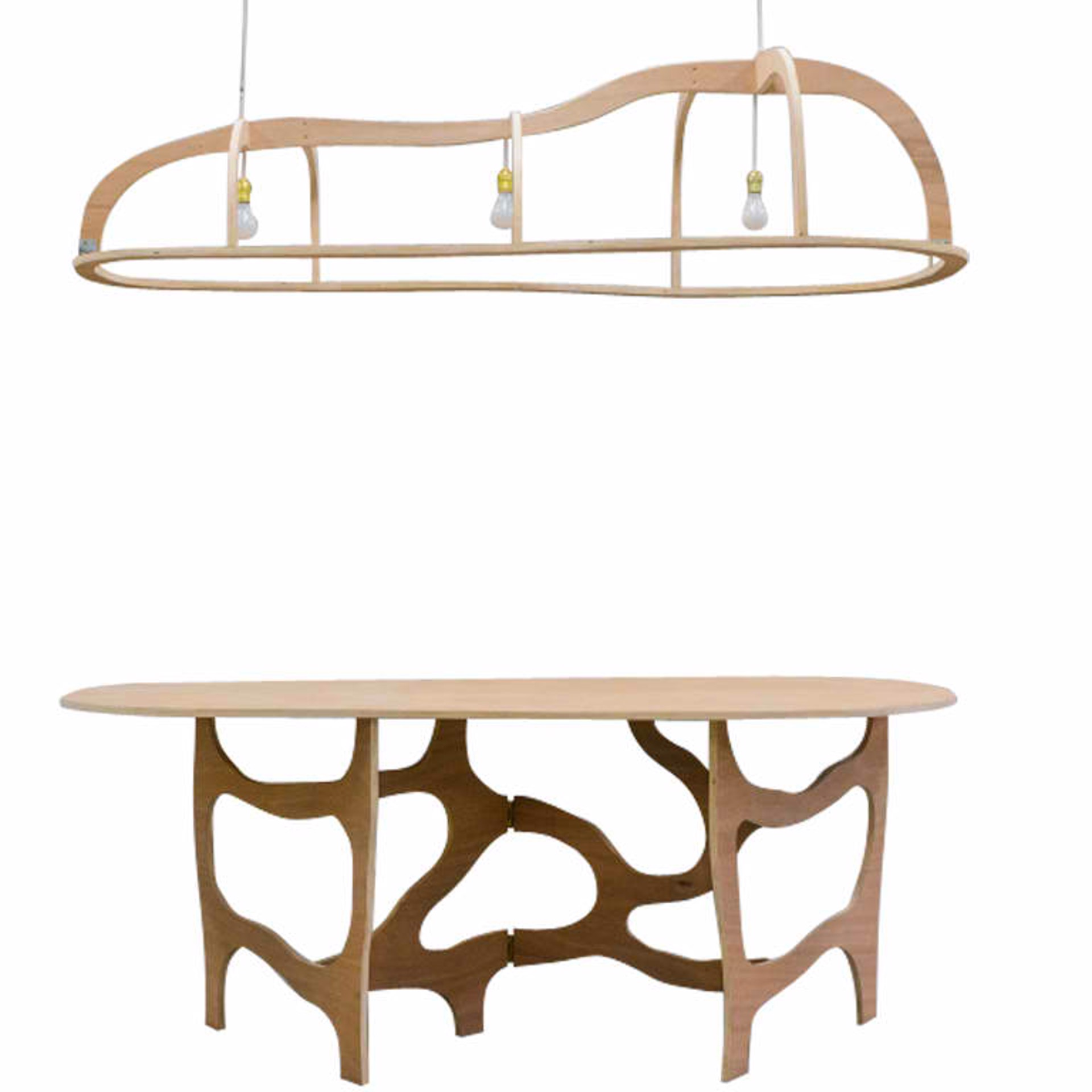 """Meanders"" Console Table and Light  by Jacques Jarrige"