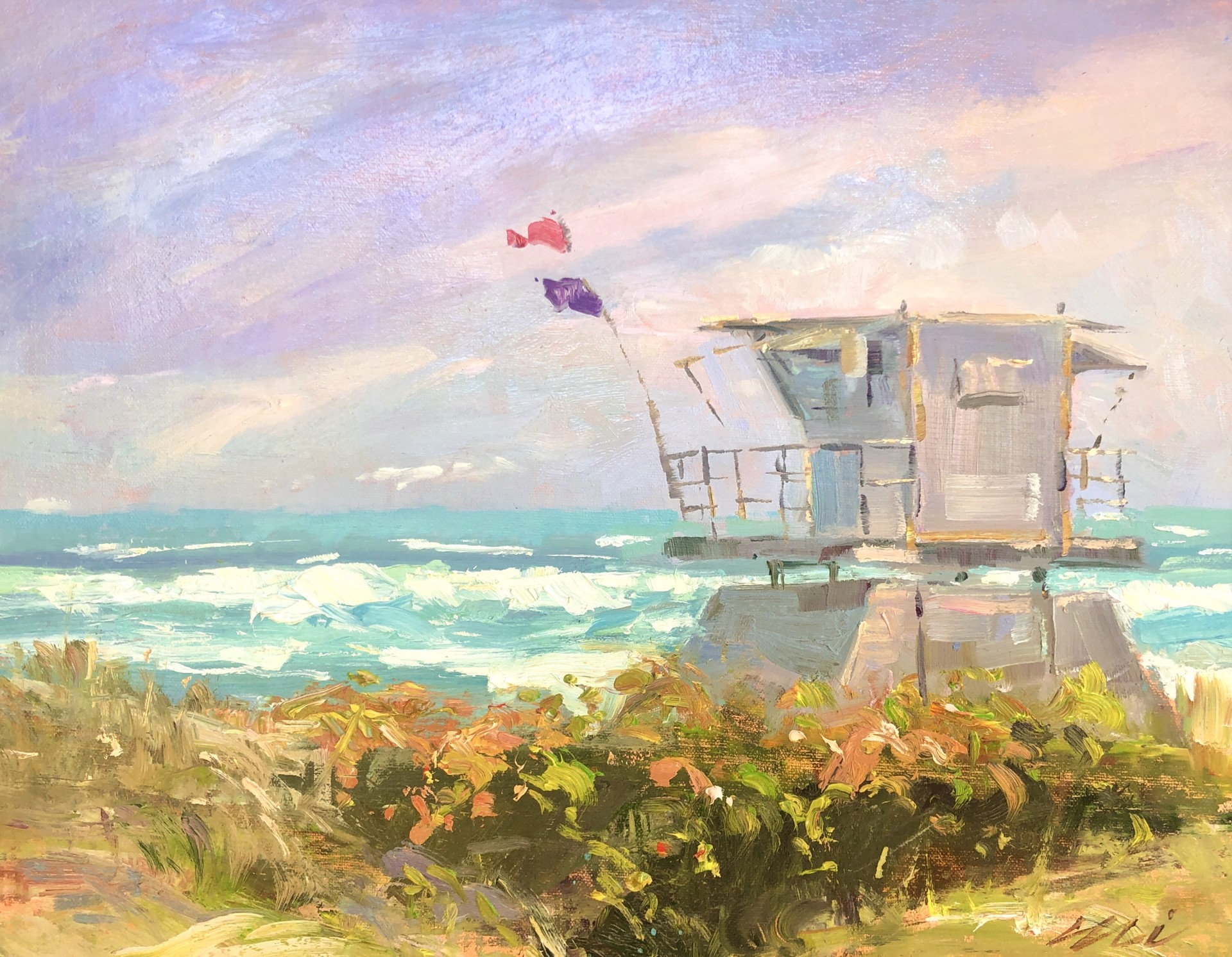 Lifeguard Shack by Eli Cedrone
