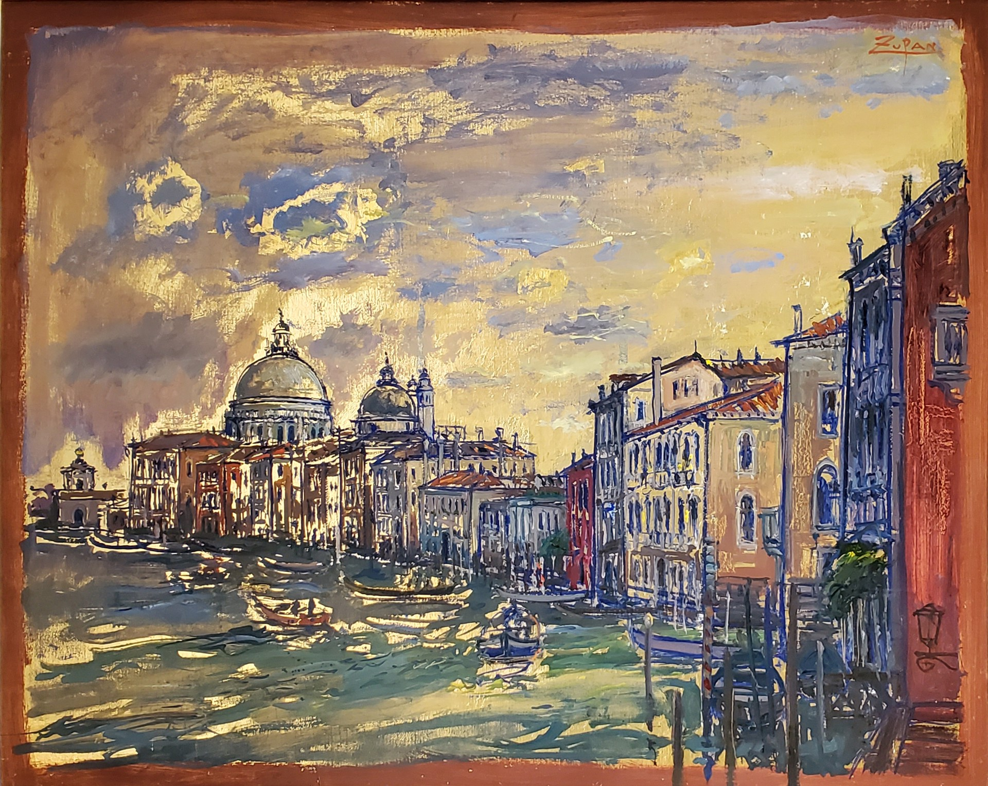Grand Canal, View to Salute by Bruno Zupan