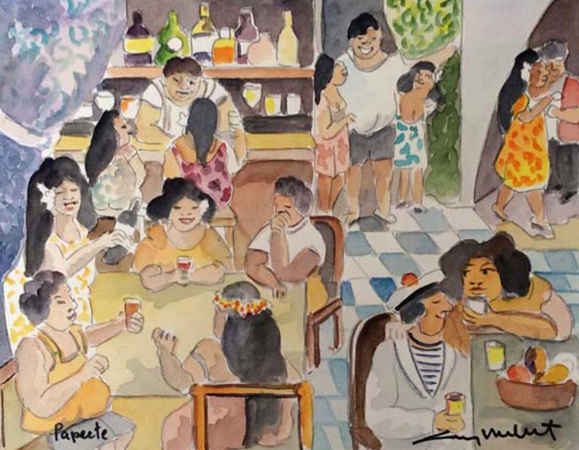 Papeete Tahiti; Queen's Bar by Guy Buffet